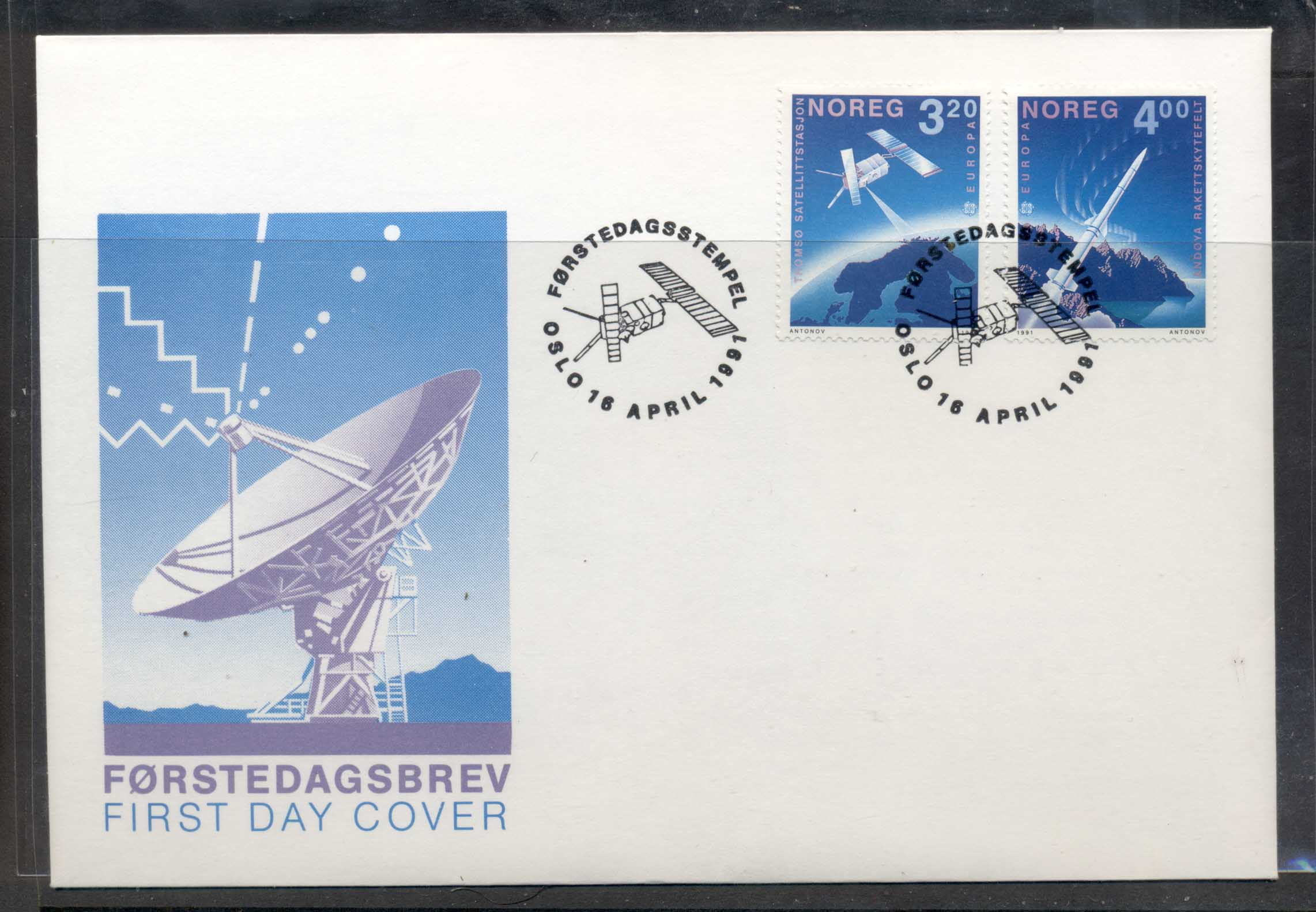 Norway 1991 Europa Man in Space FDC