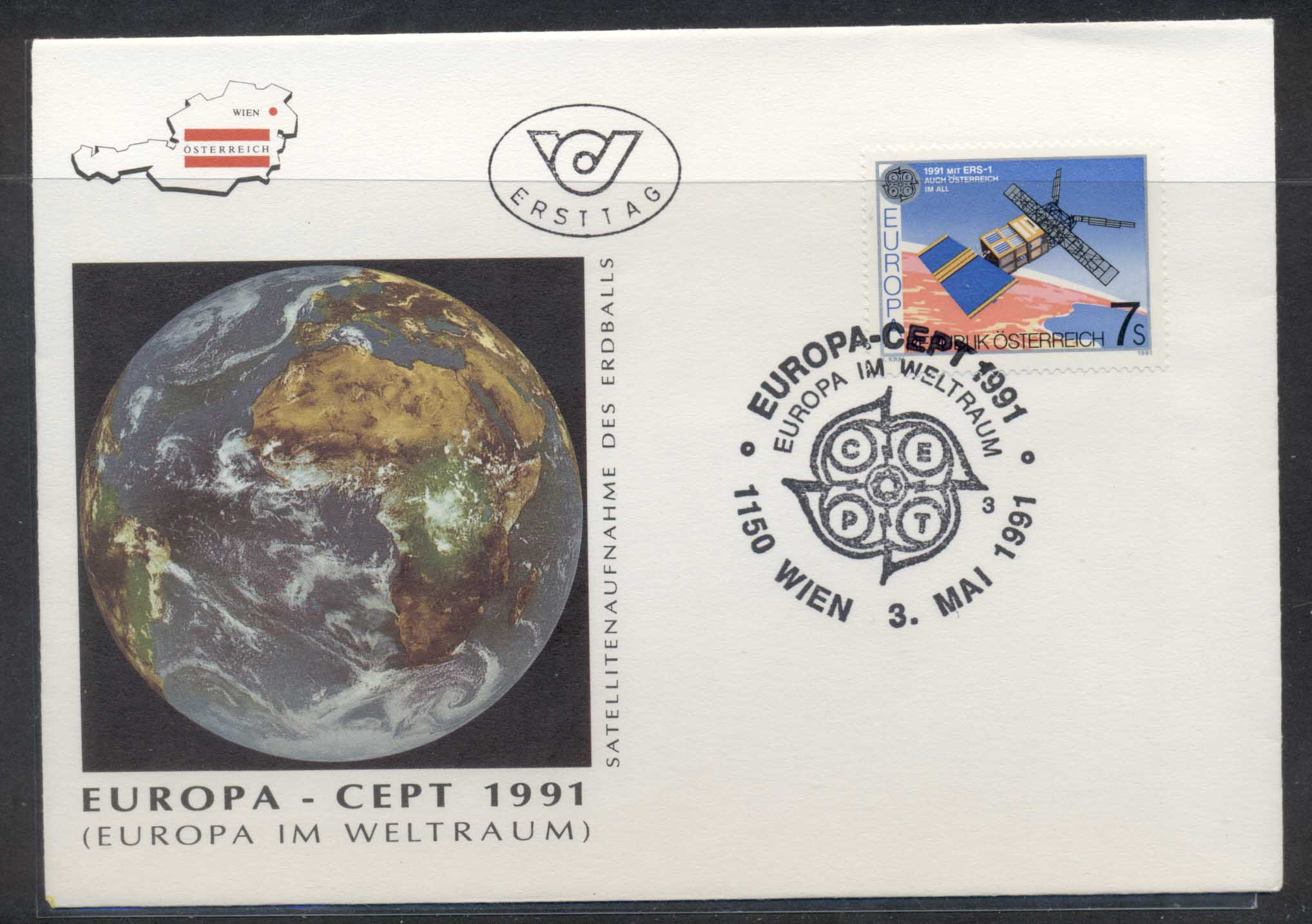 Austria 1991 Europa Man in Space FDC