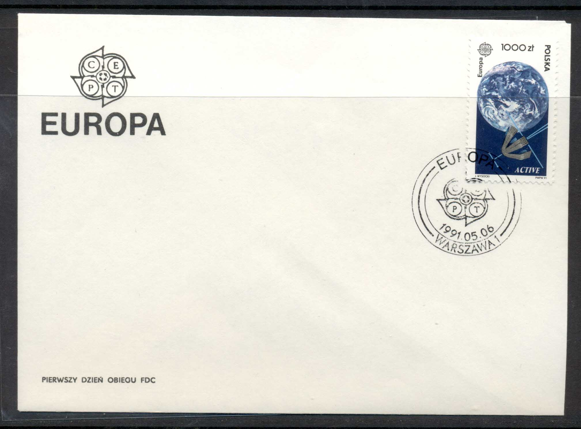 Poland 1991 Europa Man in Space FDC