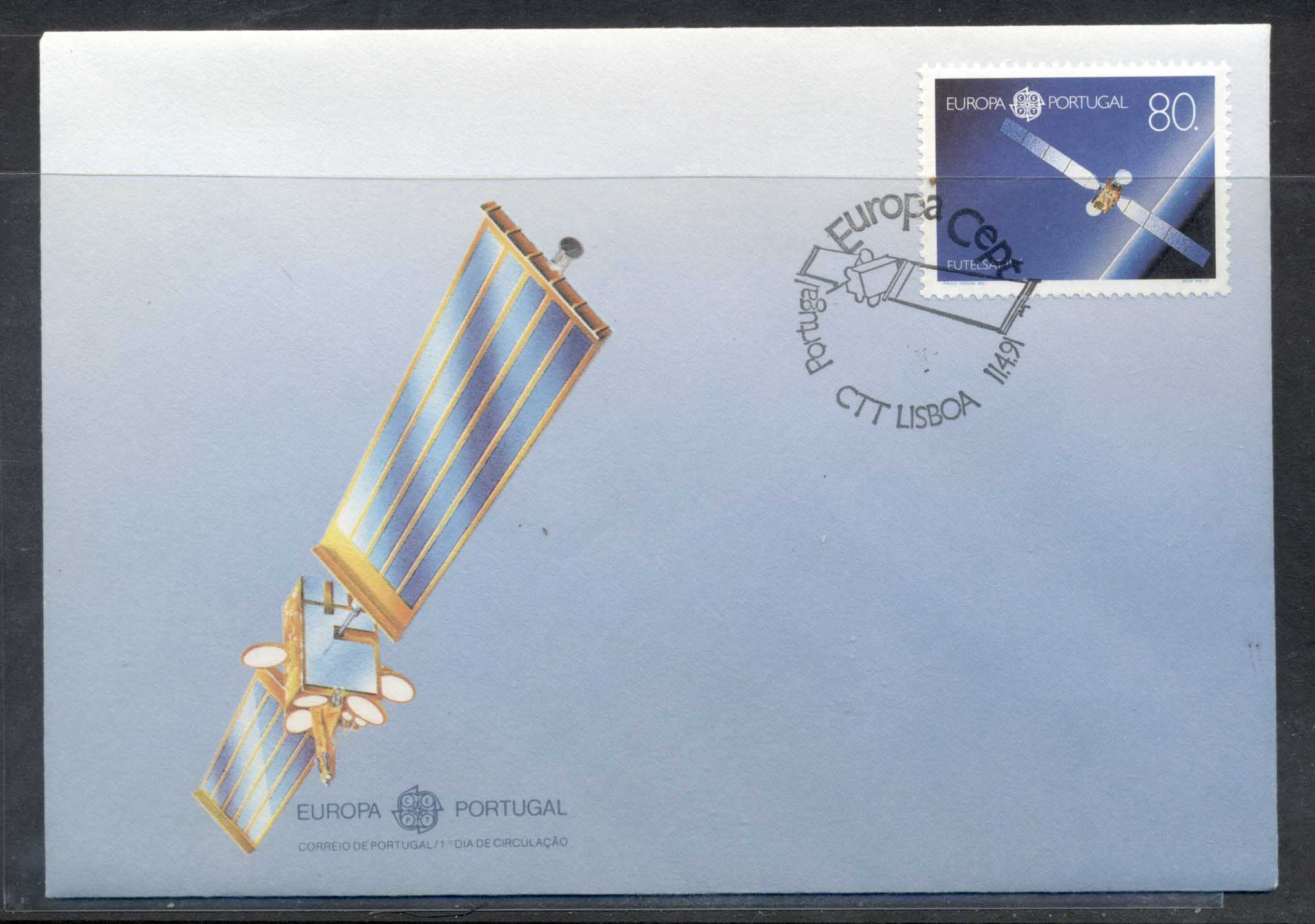 Portugal 1991 Europa Man in Space FDC