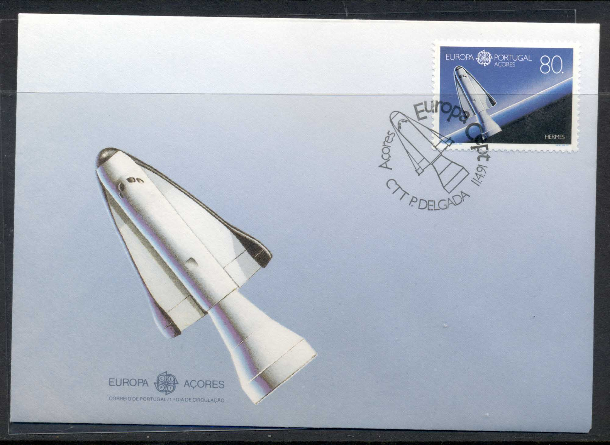 Azores 1991 Europa Man in Space FDC
