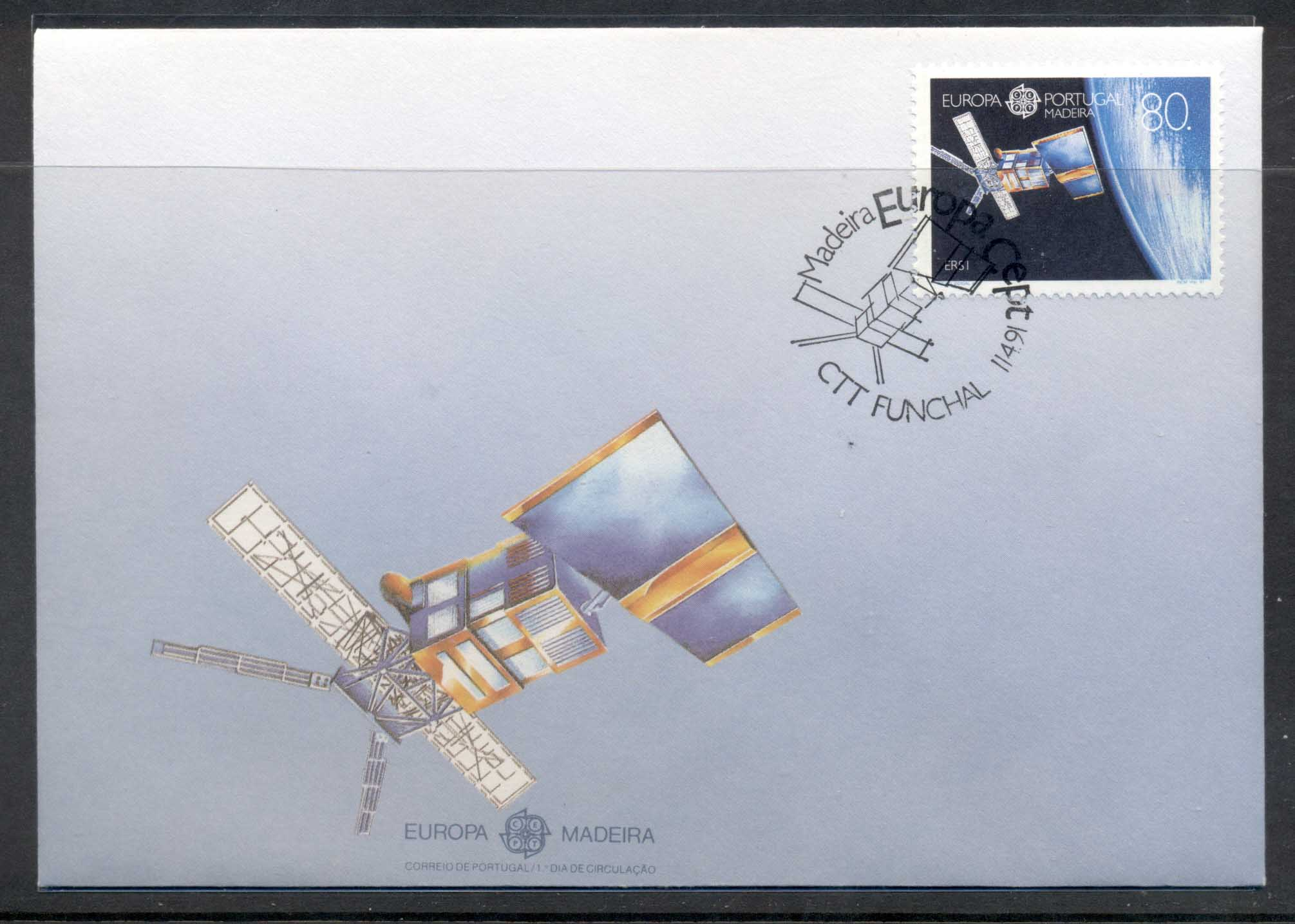 Madeira 1991 Europa Man in Space FDC