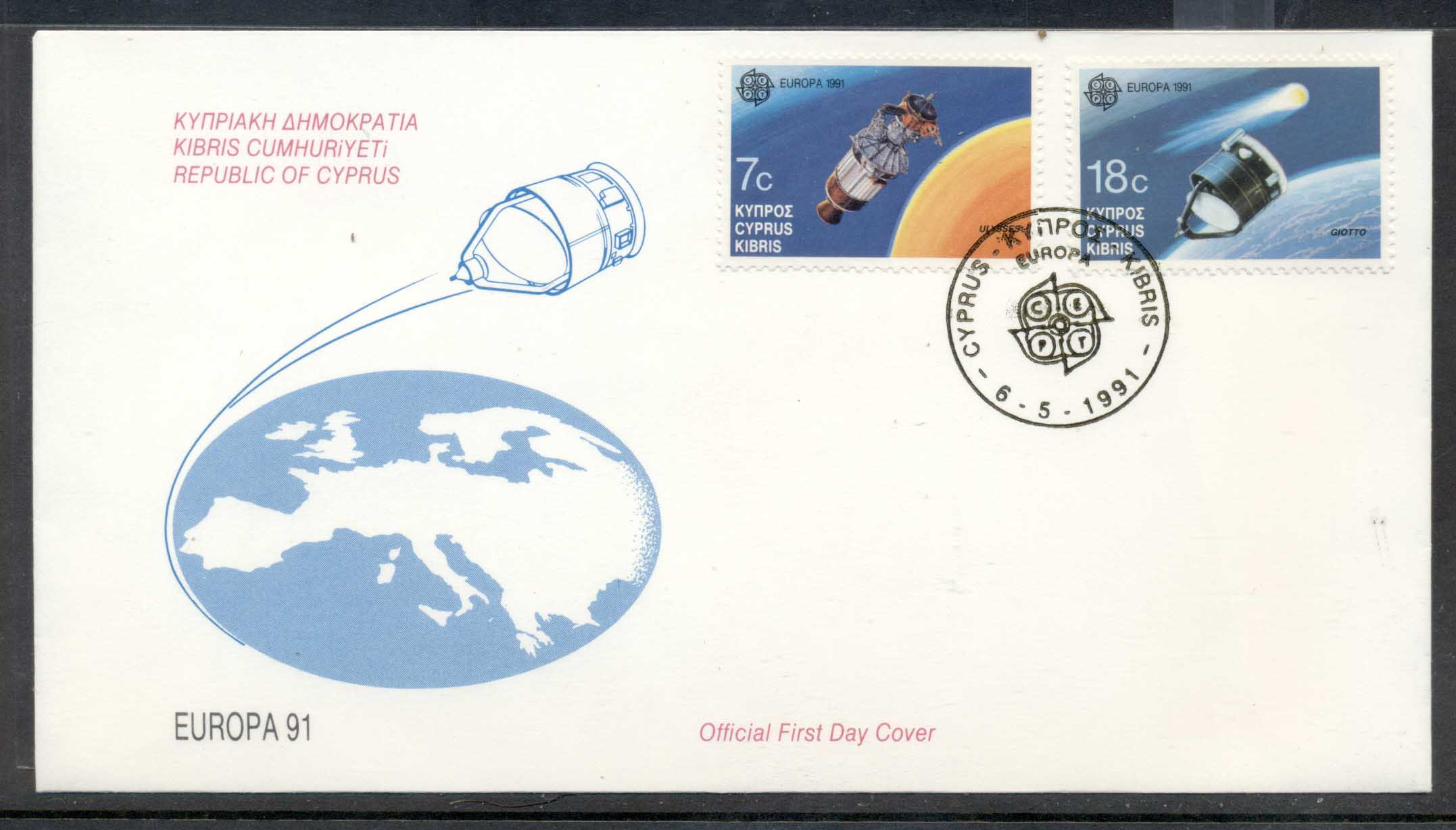 Cyprus 1991 Europa Man in Space FDC