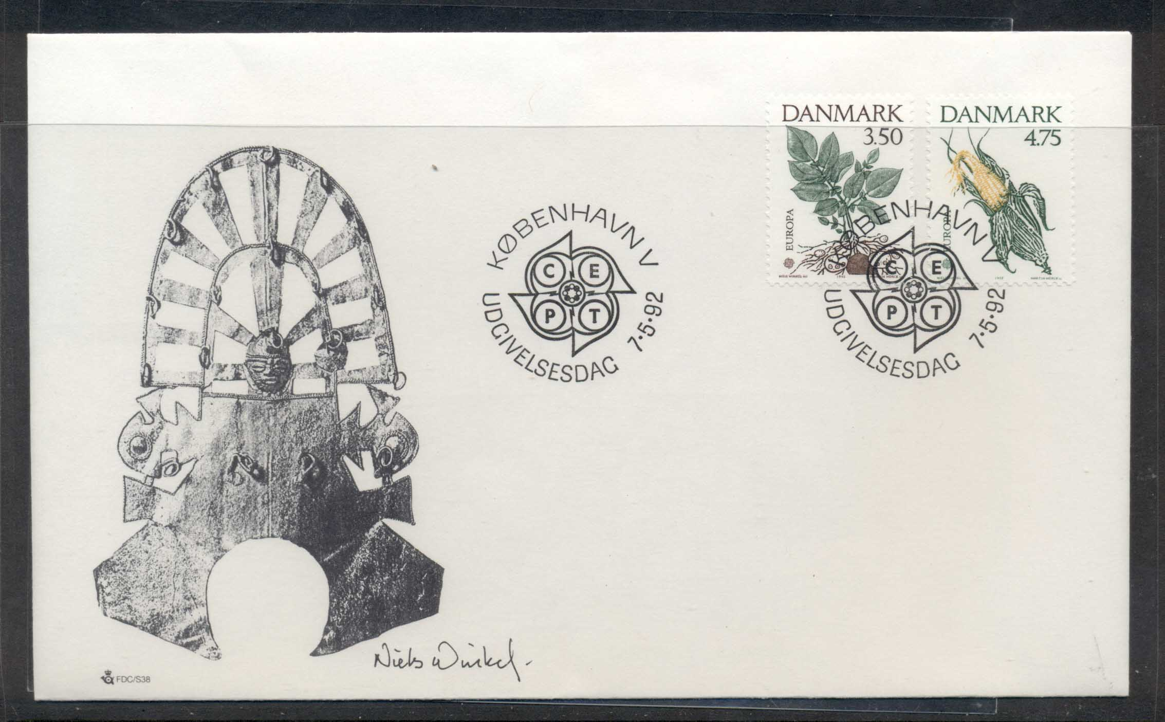 Denmark 1992 Europa Columbus Discovery of America FDC