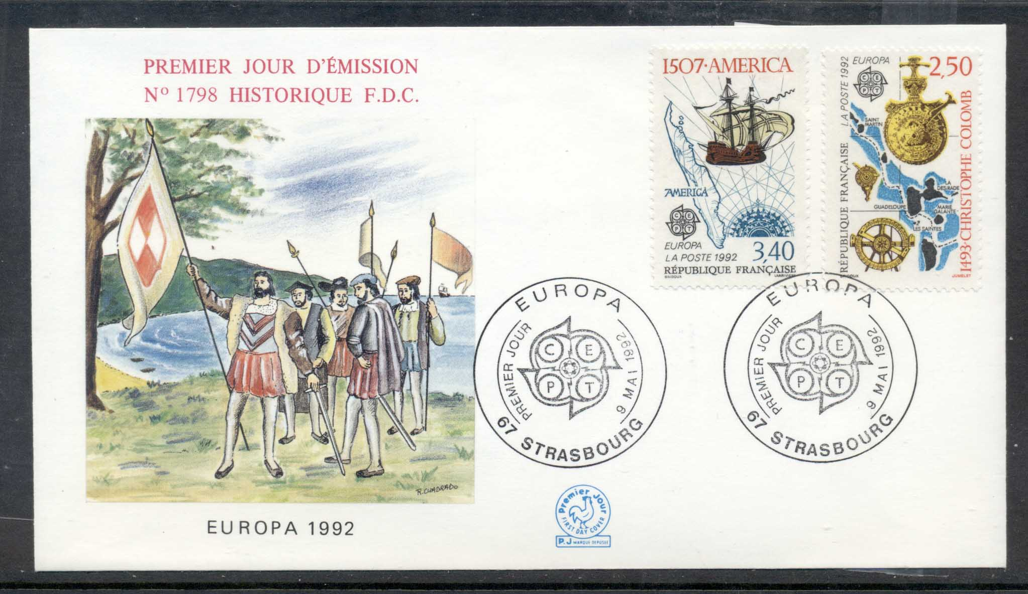France 1992 Europa Columbus Discovery of America FDC