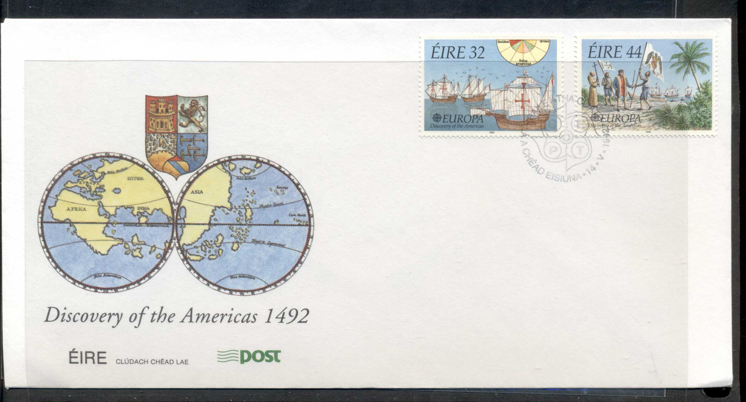 Ireland 1992 Europa Columbus Discovery of America FDC
