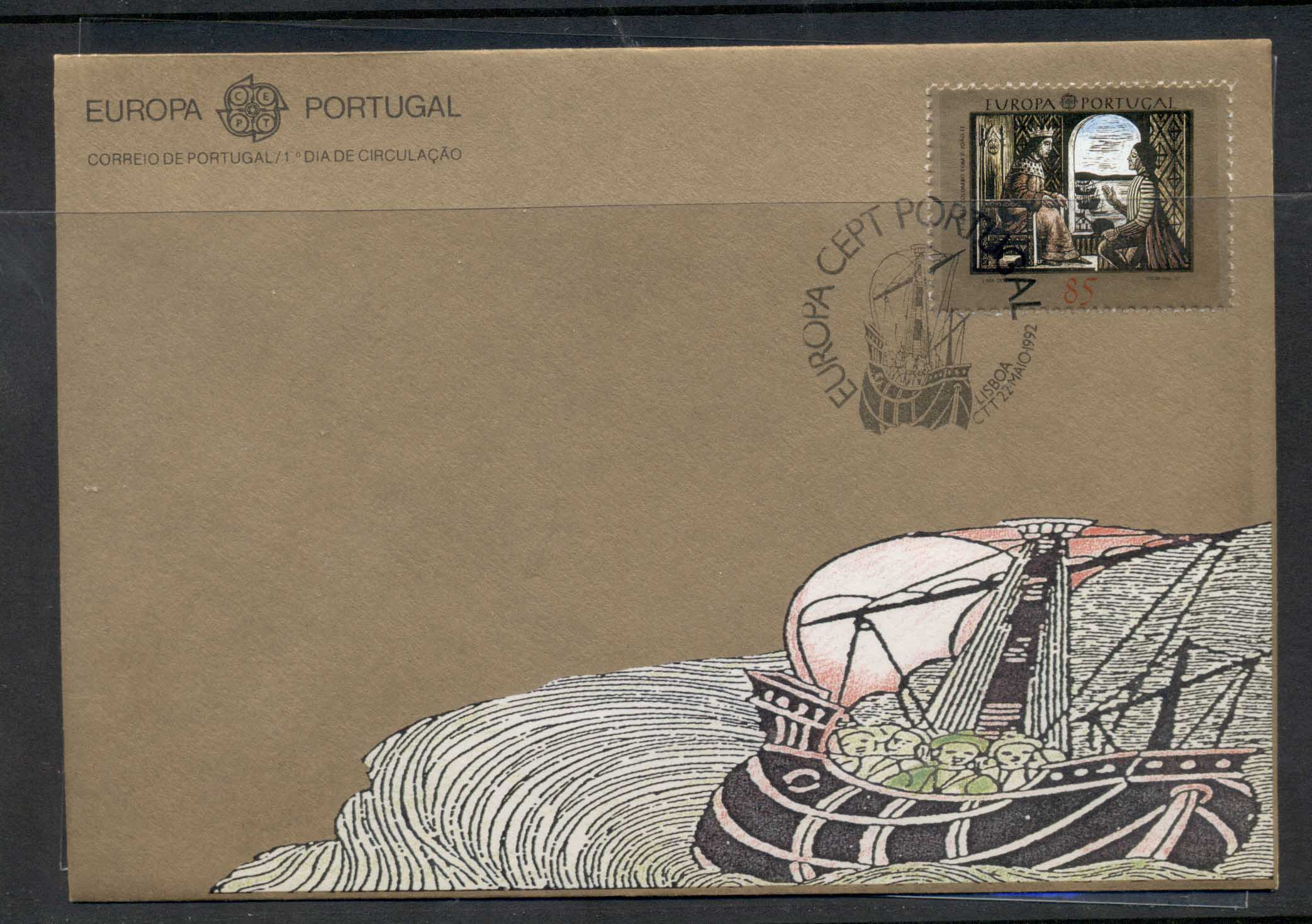 Portugal 1992 Europa Columbus Discovery of America FDC