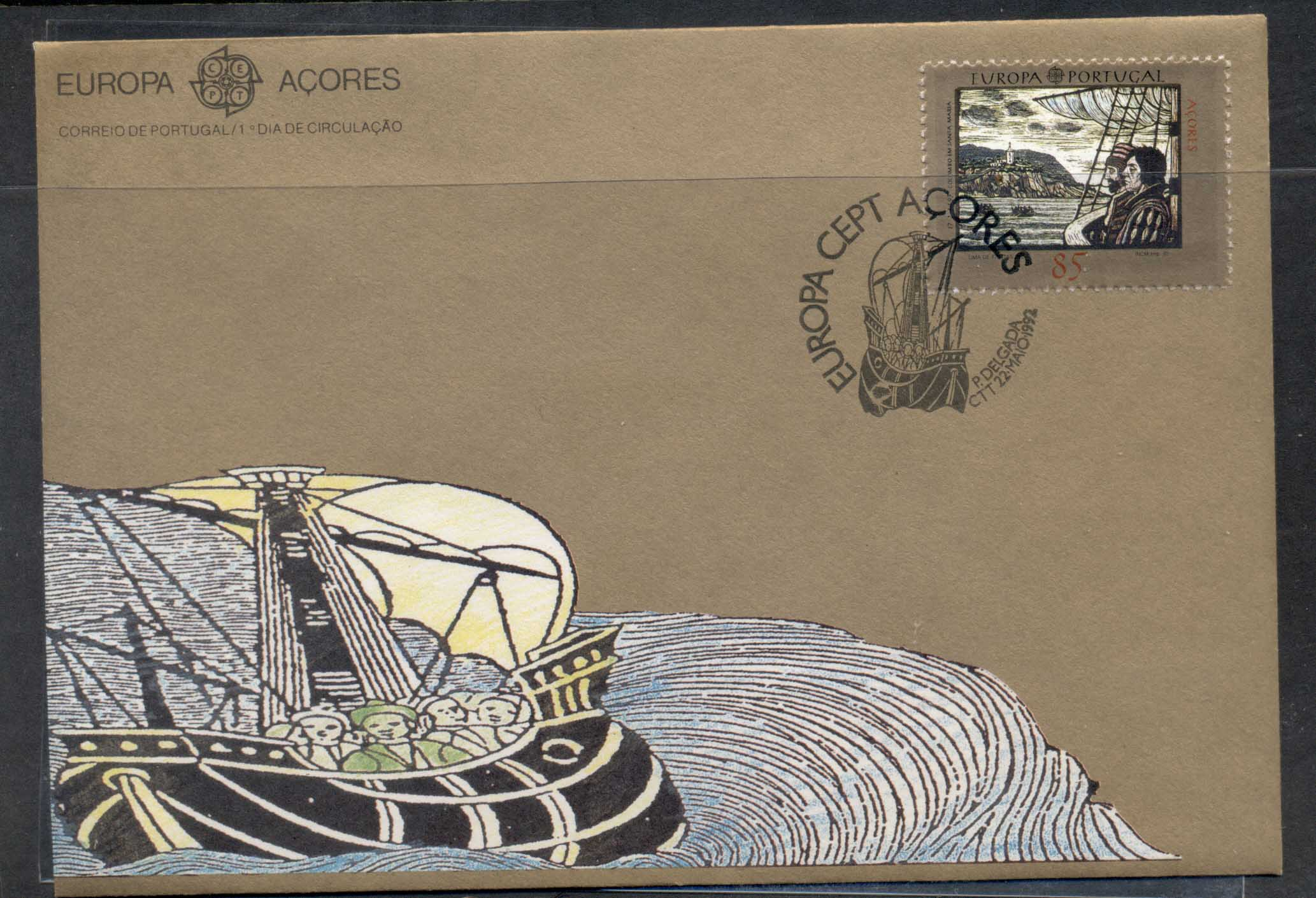 Azores 1992 Europa Columbus Discovery of America FDC