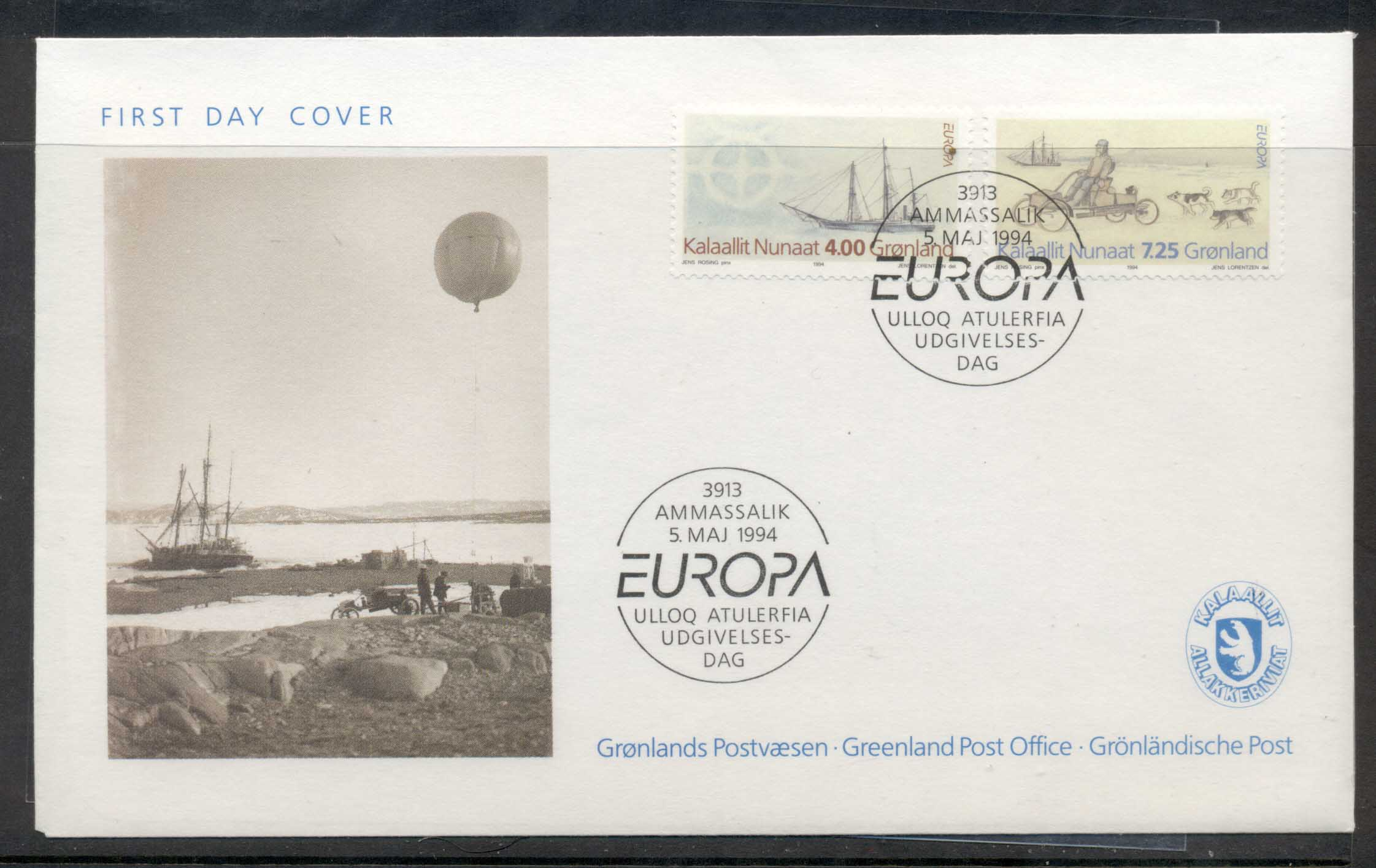 Greenland 1994 Europa Scientific Discoveries FDC