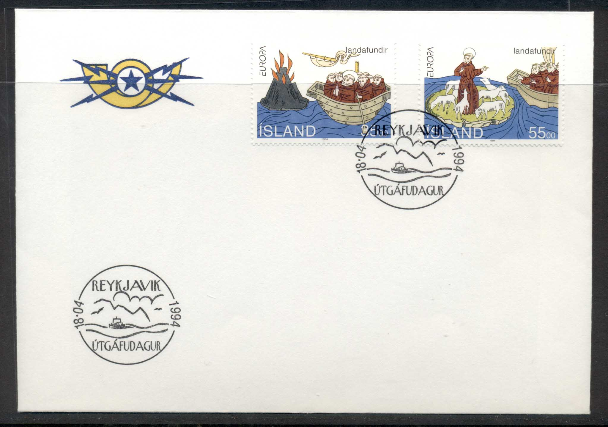 Iceland 1994 Europa Scientific Discoveries FDC