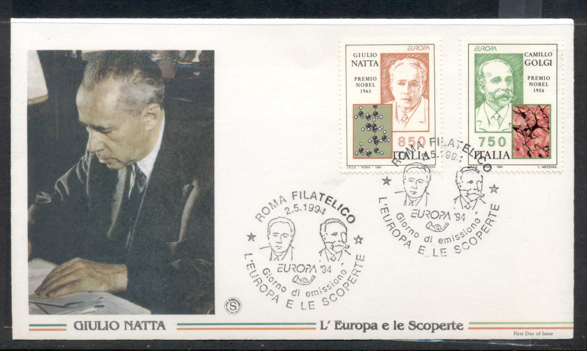 Italy 1994 Europa Scientific Discoveries FDC