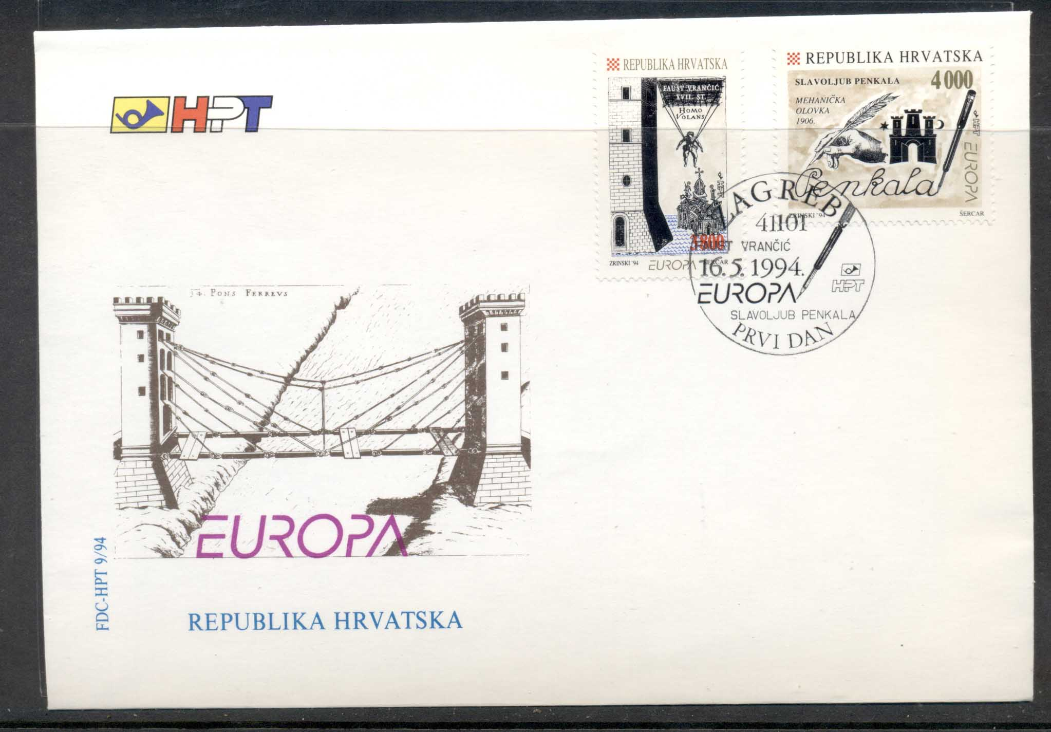 Croatia 1994 Europa Scientific Discoveries FDC