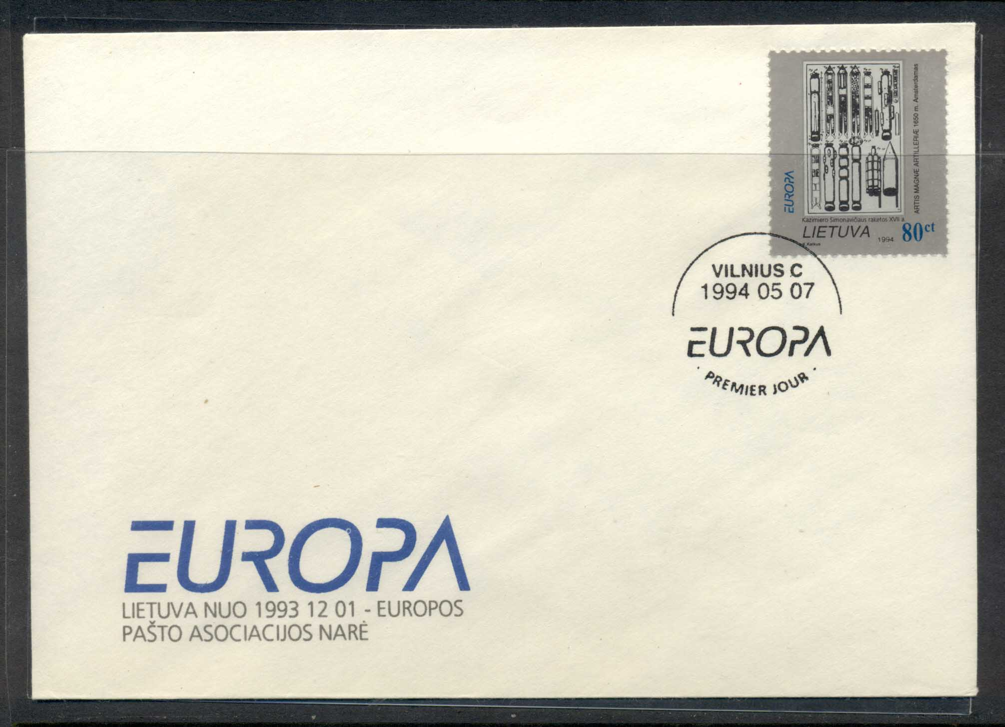 Lithuania 1994 Europa Scientific Discoveries FDC