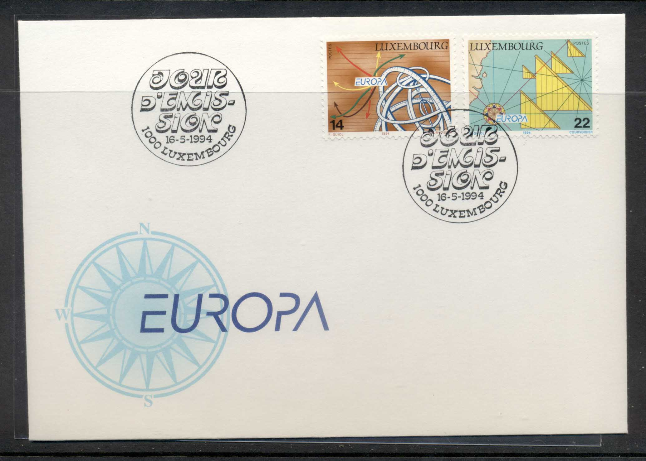 Luxembourg 1994 Europa Scientific Discoveries FDC