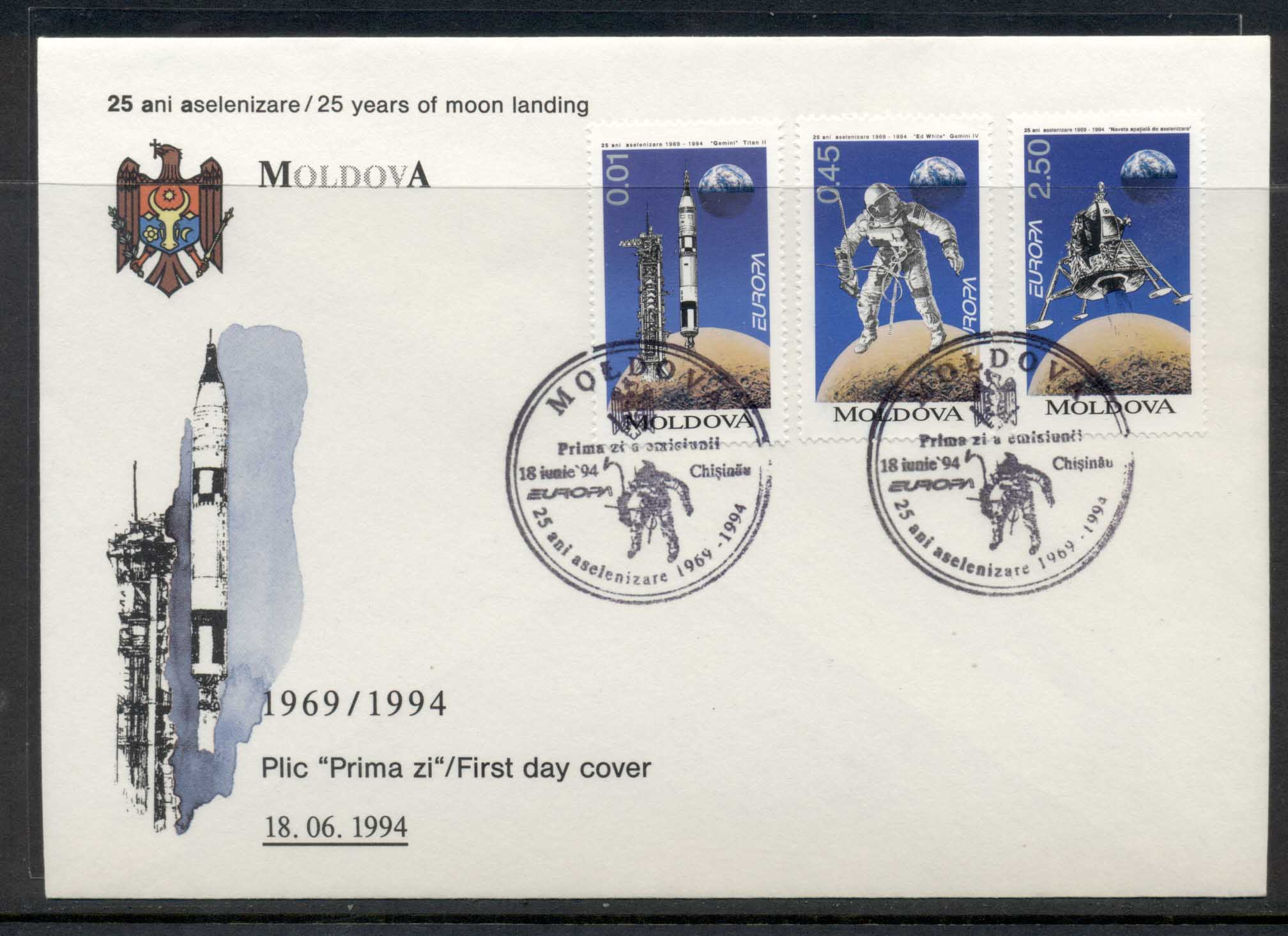 Moldova 1994 Europa Scientific Discoveries FDC