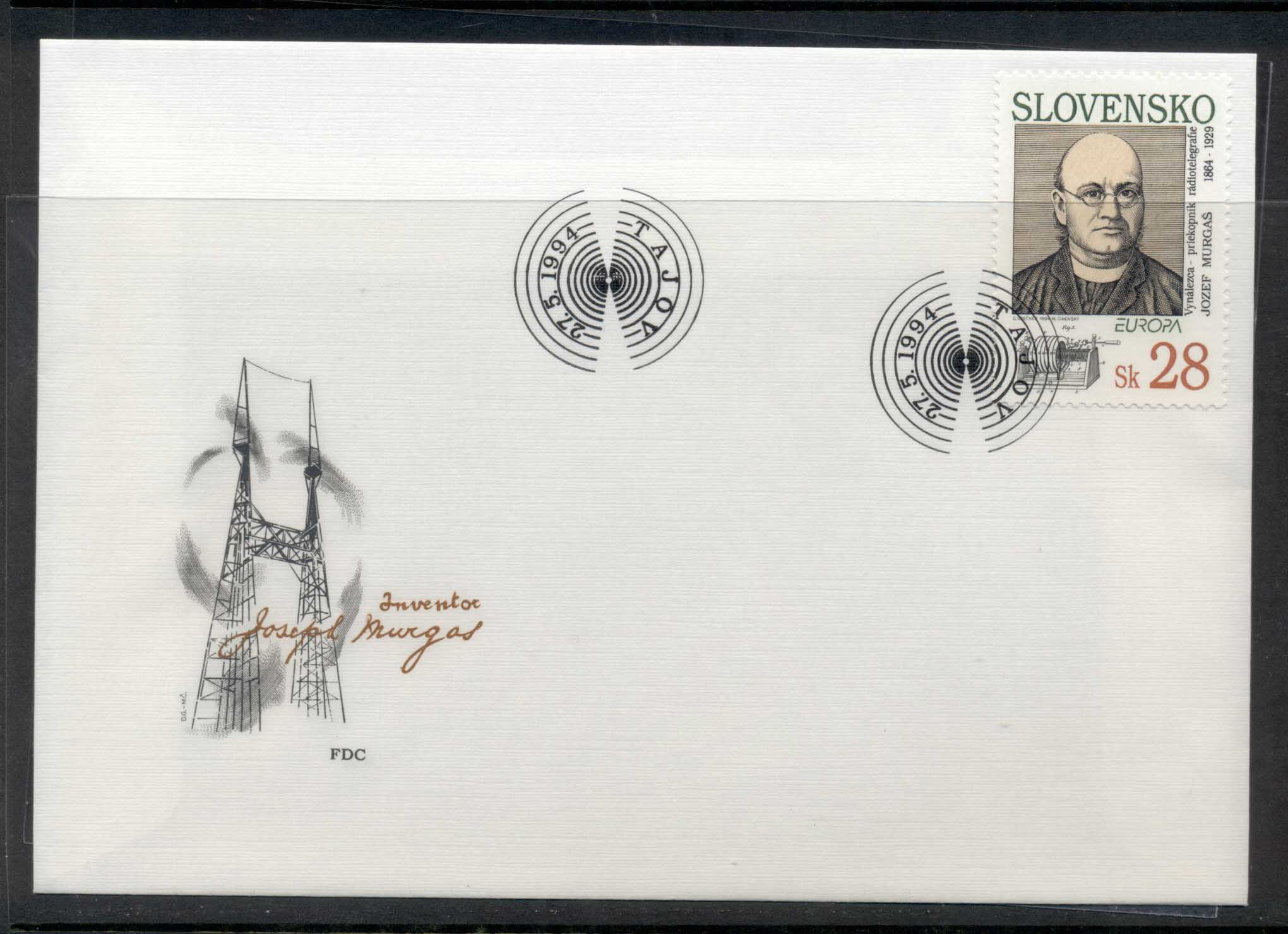 Slovakia 1994 Europa Scientific Discoveries FDC