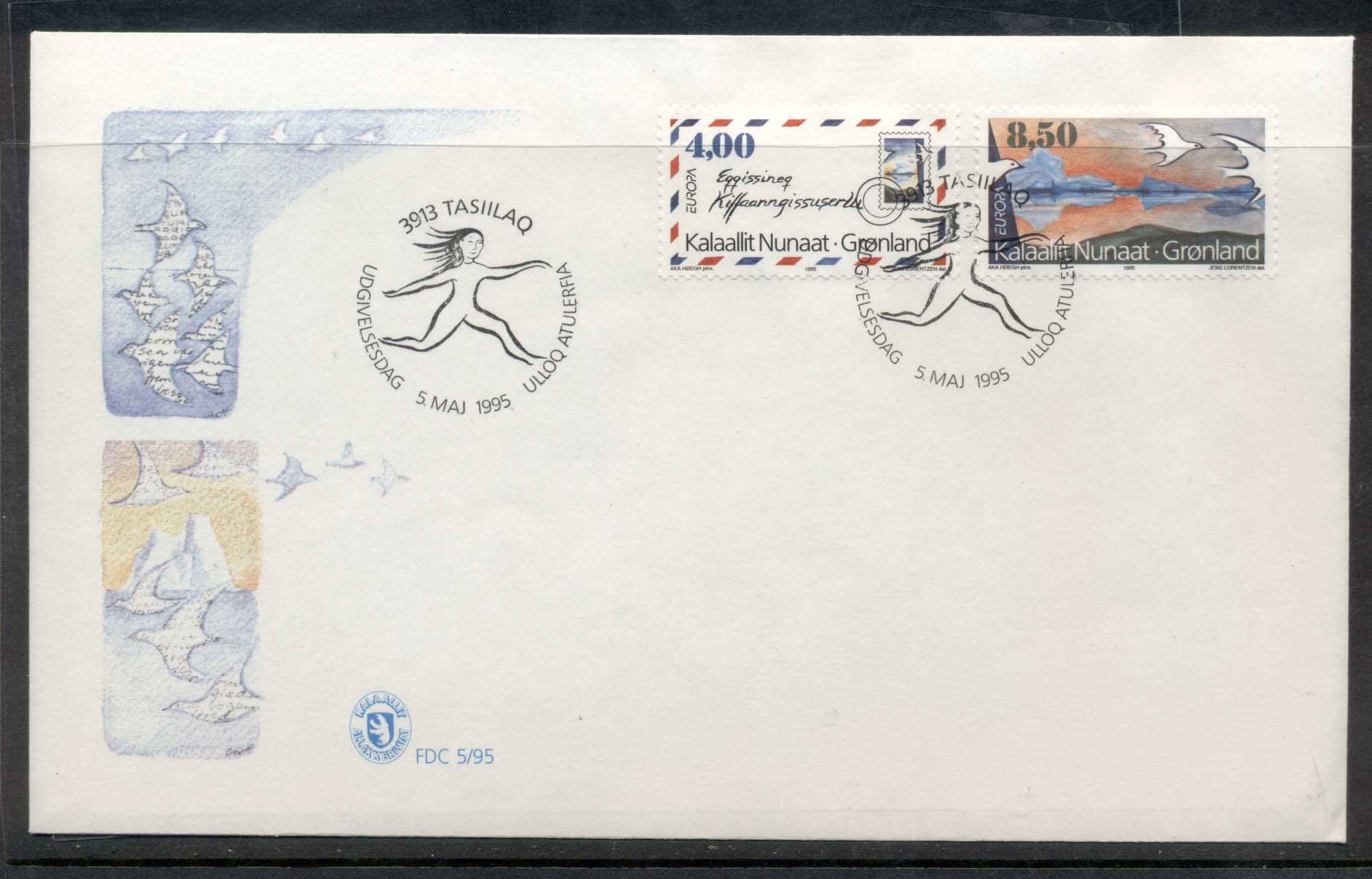 Greenland 1995 Europa Peace & Freedom FDC