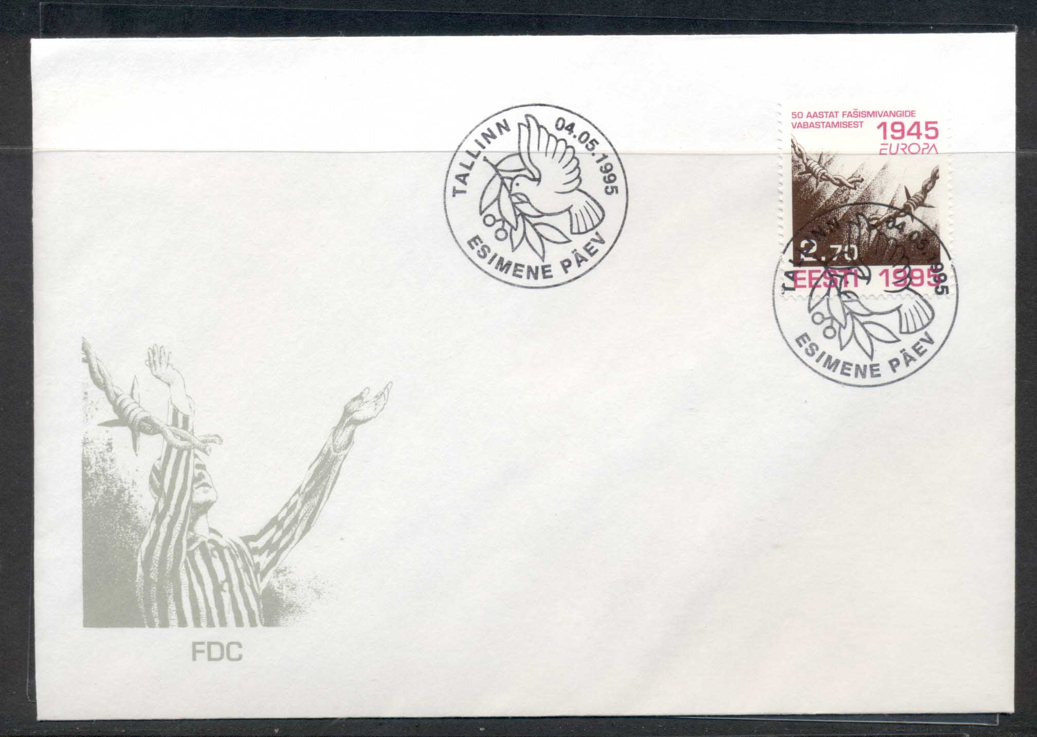 Estonia 1995 Europa Peace & Freedom FDC