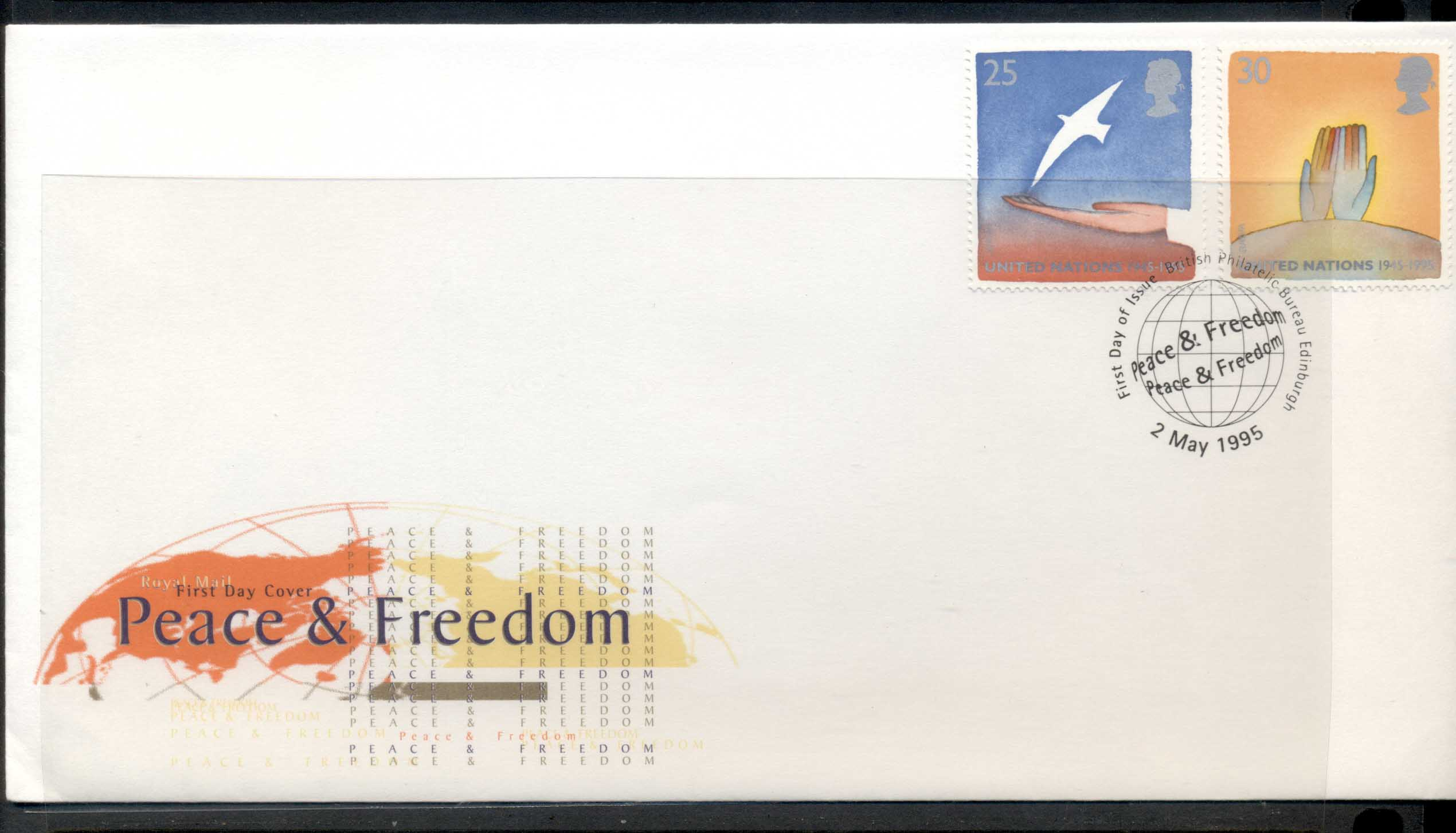 GB 1995 Europa Peace & Freedom FDC