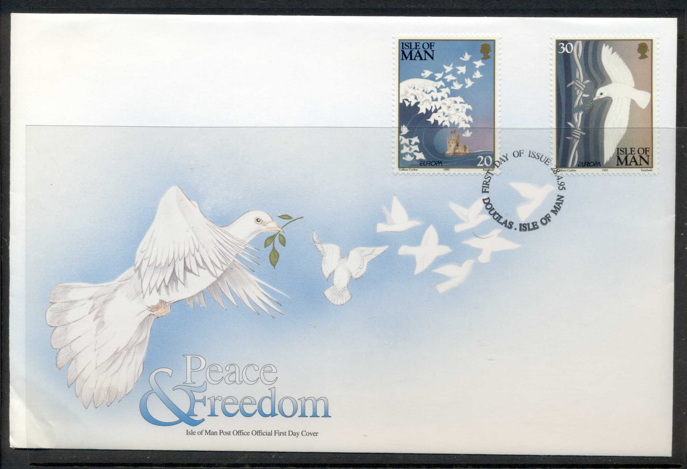 Isle of Man 1995 Europa Peace & Freedom FDC