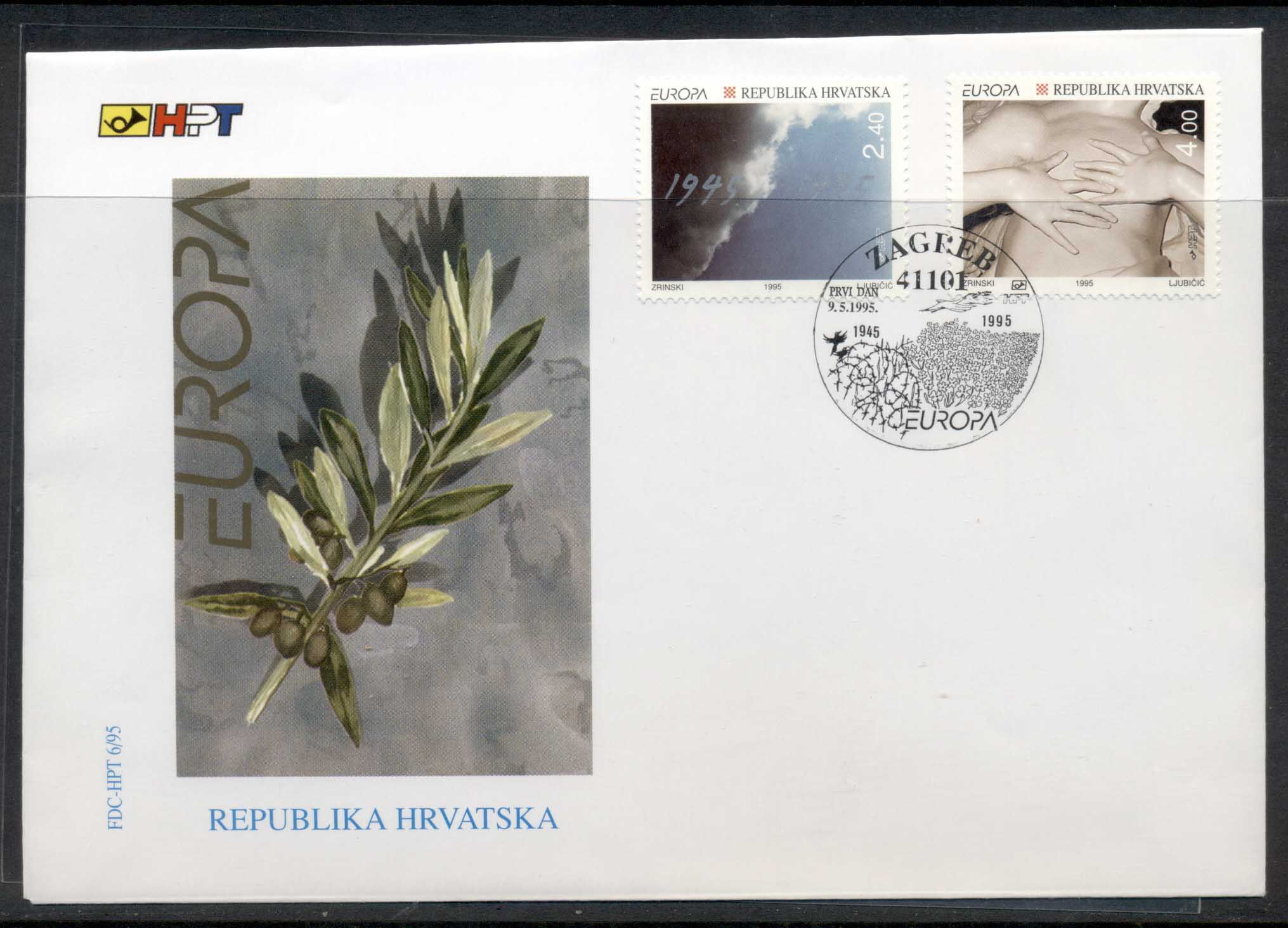 Croatia 1995 Europa Peace & Freedom FDC
