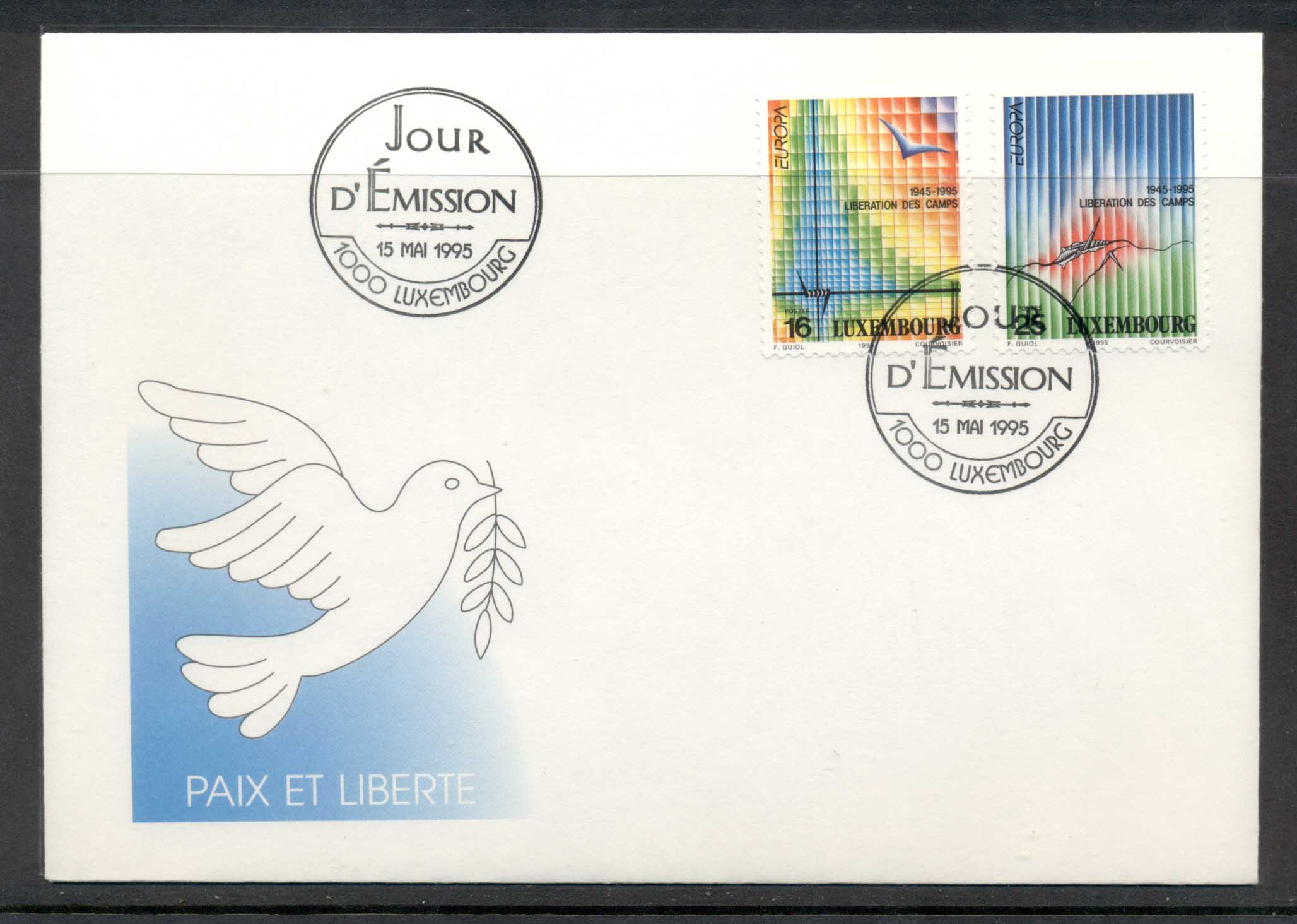 Luxembourg 1995 Europa Peace & Freedom FDC