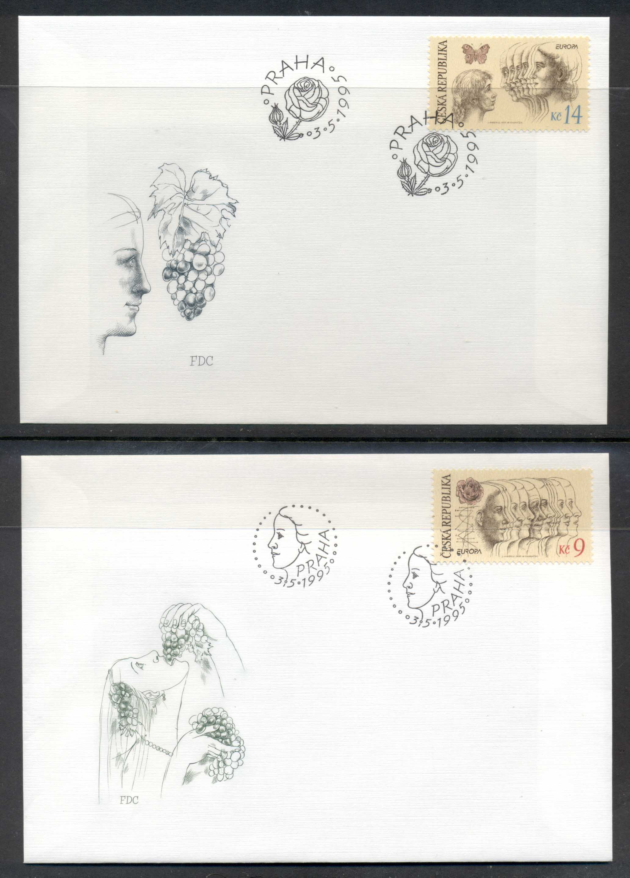 Czech Republic 1995 Europa Peace & Freedom FDC