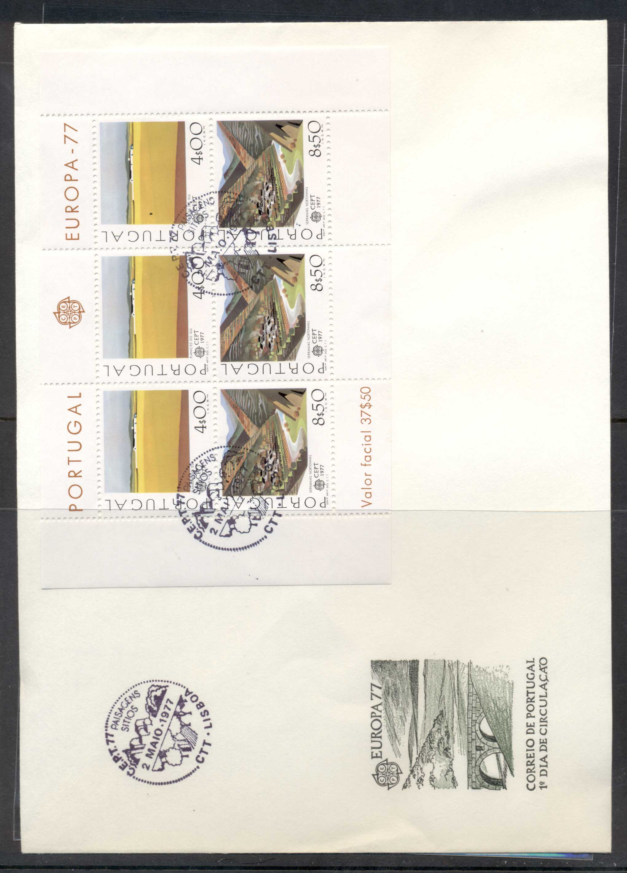 Portugal 1977 Europa Landscapes XLMS FDC