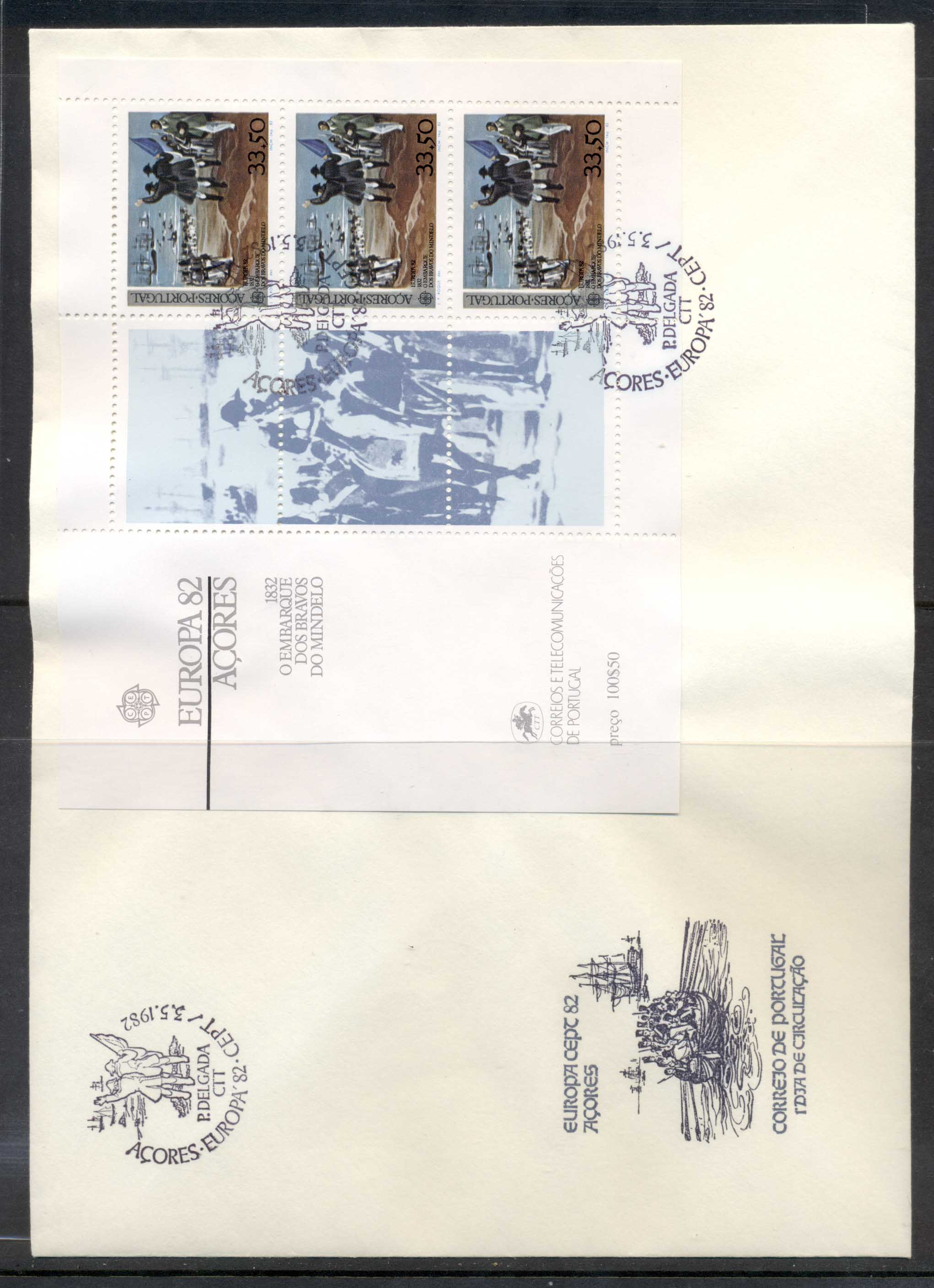Azores 1982 Europa History XLMS FDC
