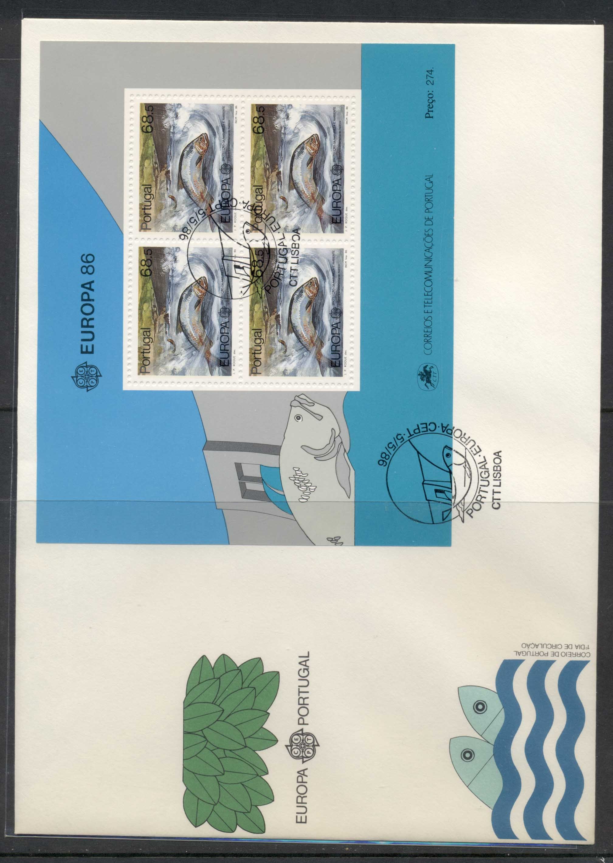 Portugal 1986 Europa Environment XLMS FDC