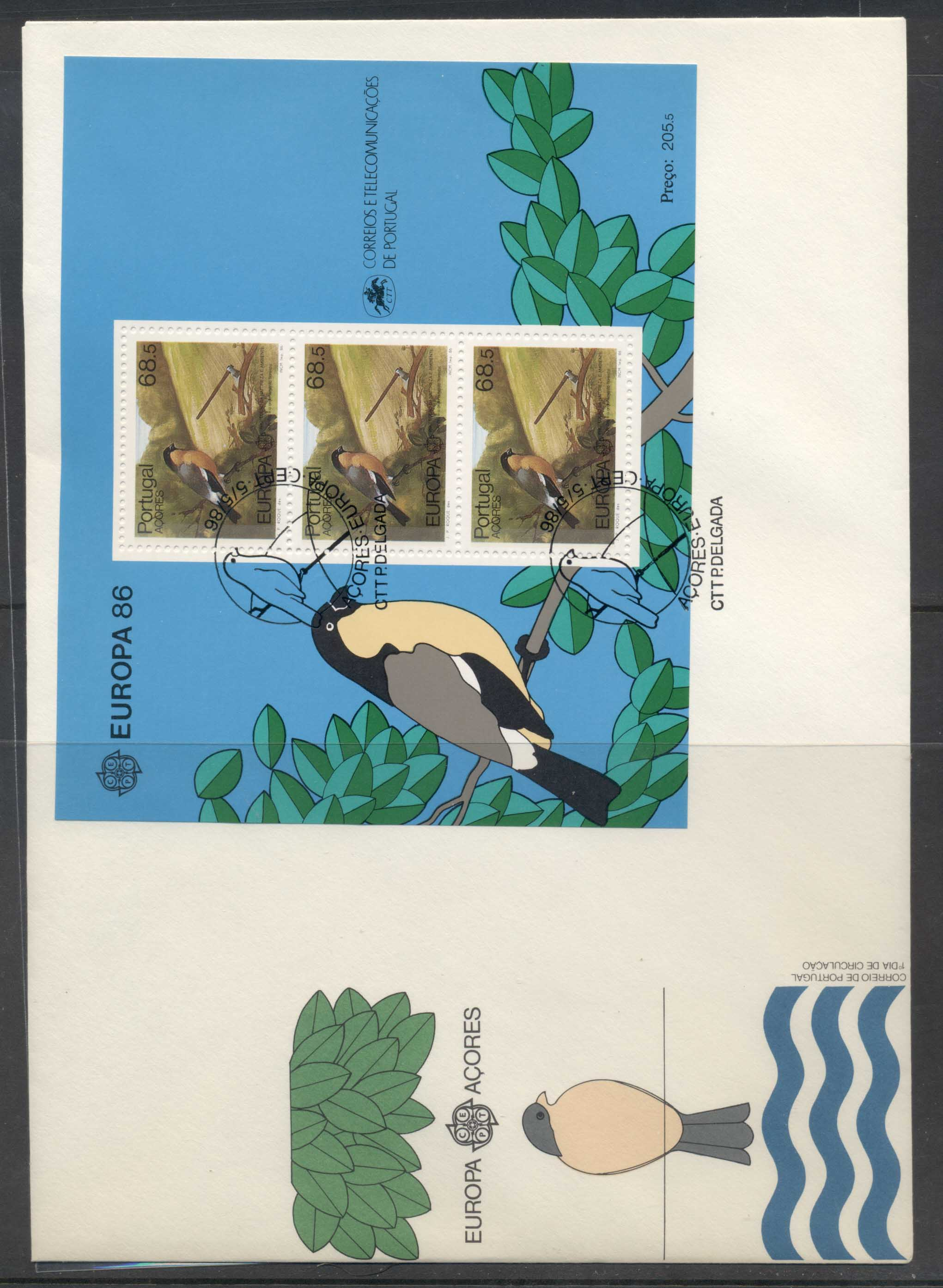 Azores 1986 Europa Environment XLMS FDC