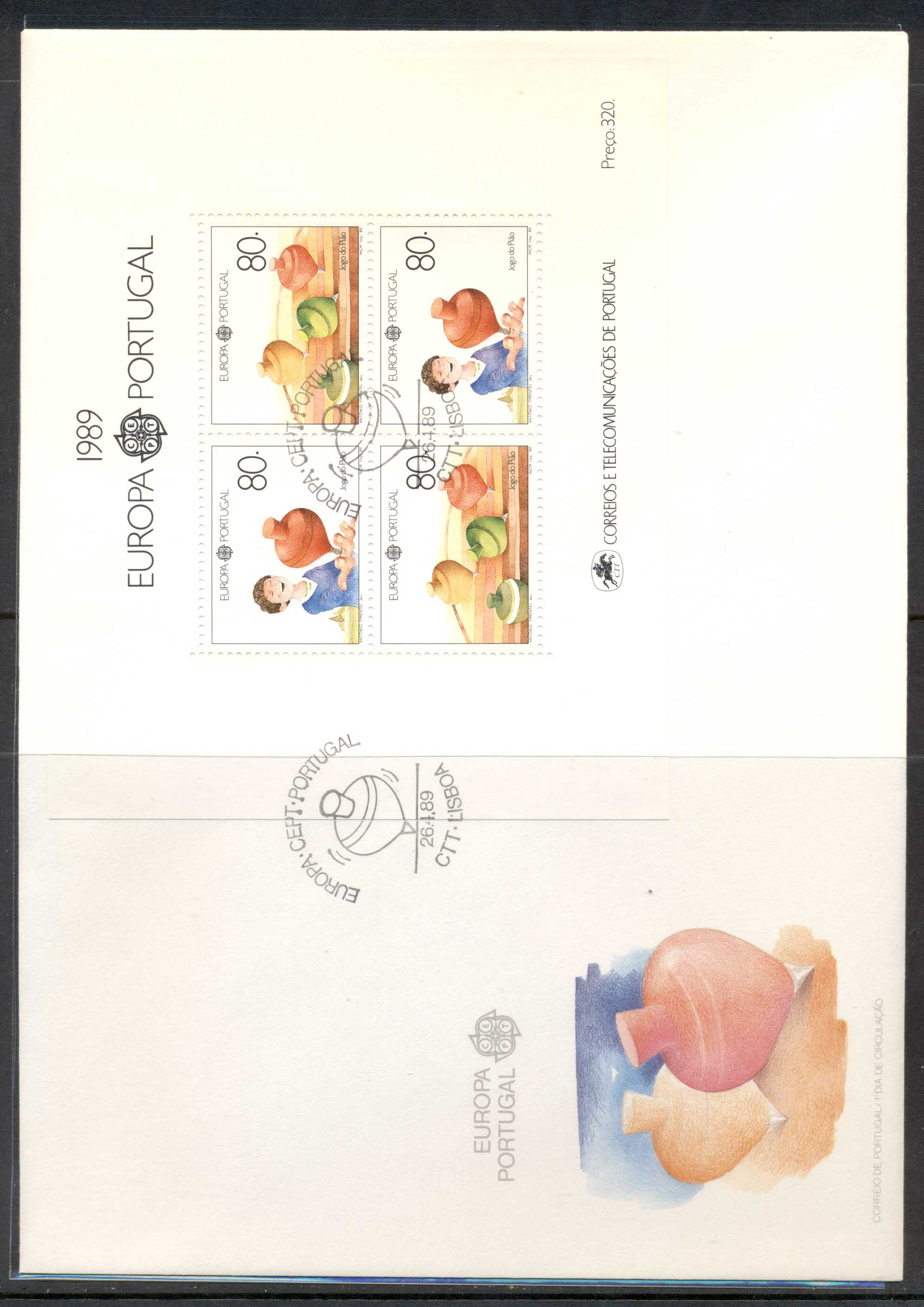 Portugal 1989 Europa Children's Play XLMS FDC