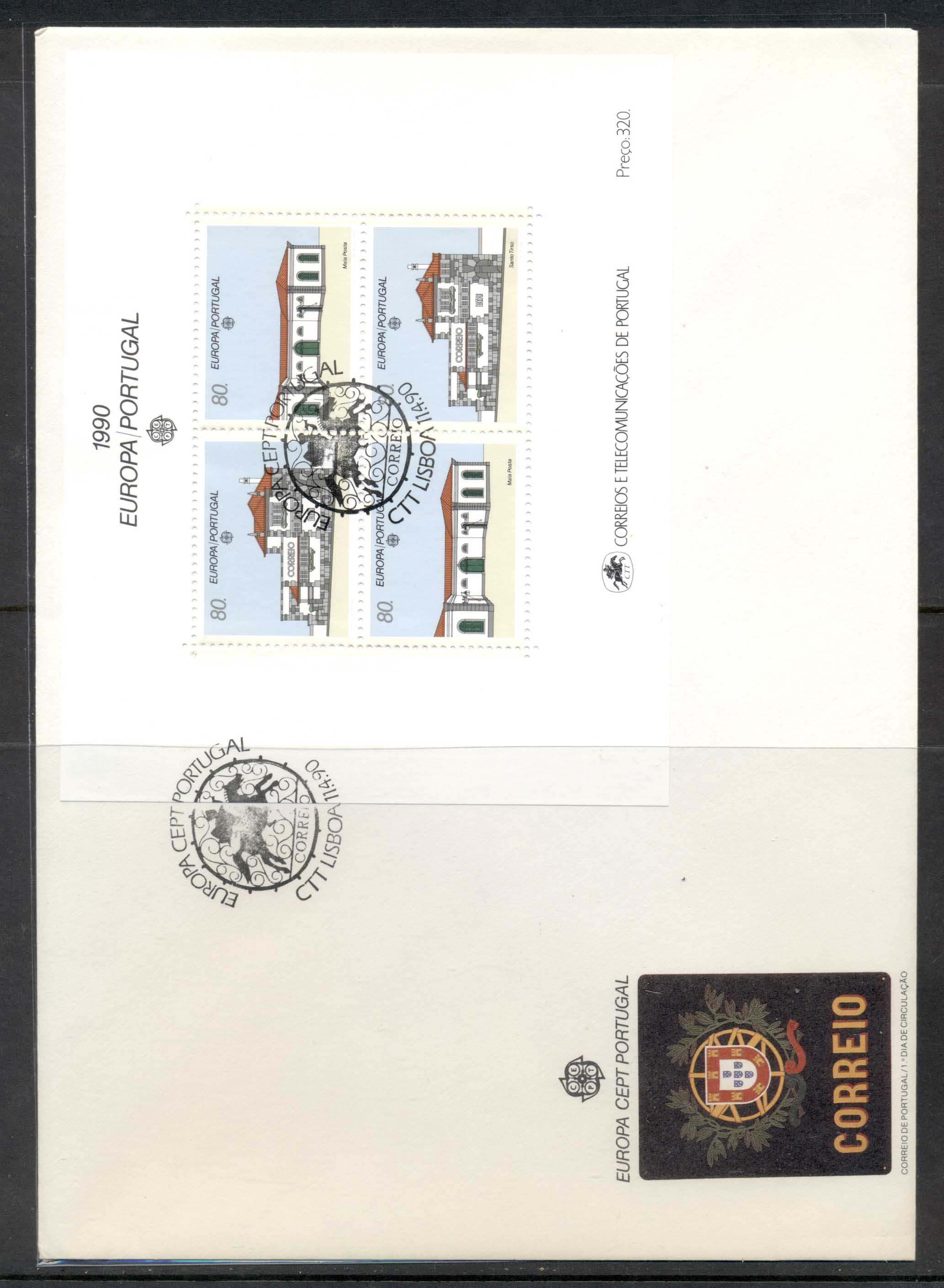 Portugal 1990 Europa Post Offices XLMS FDC