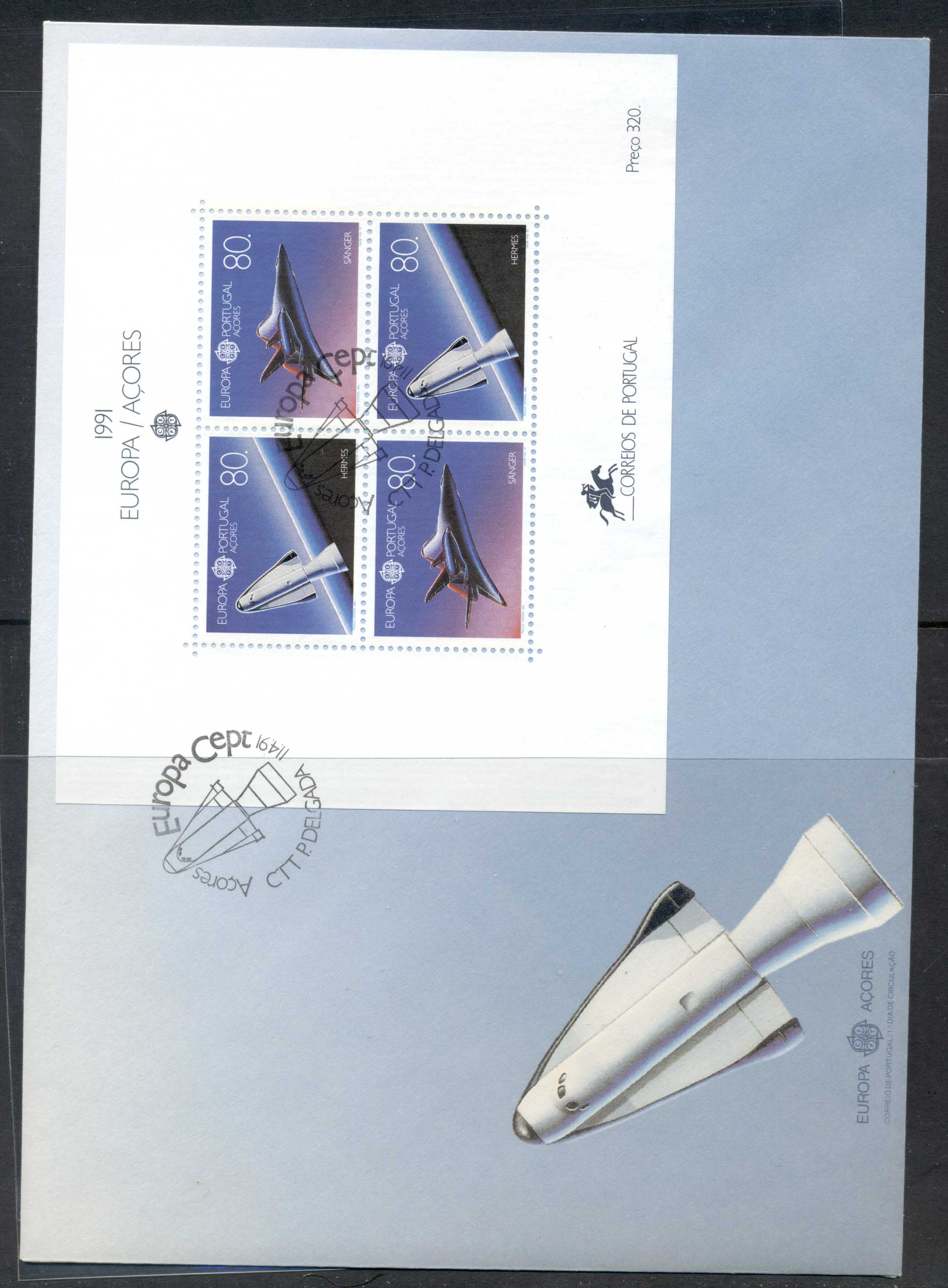 Azores 1991 Europa Man in Space XLMS FDC