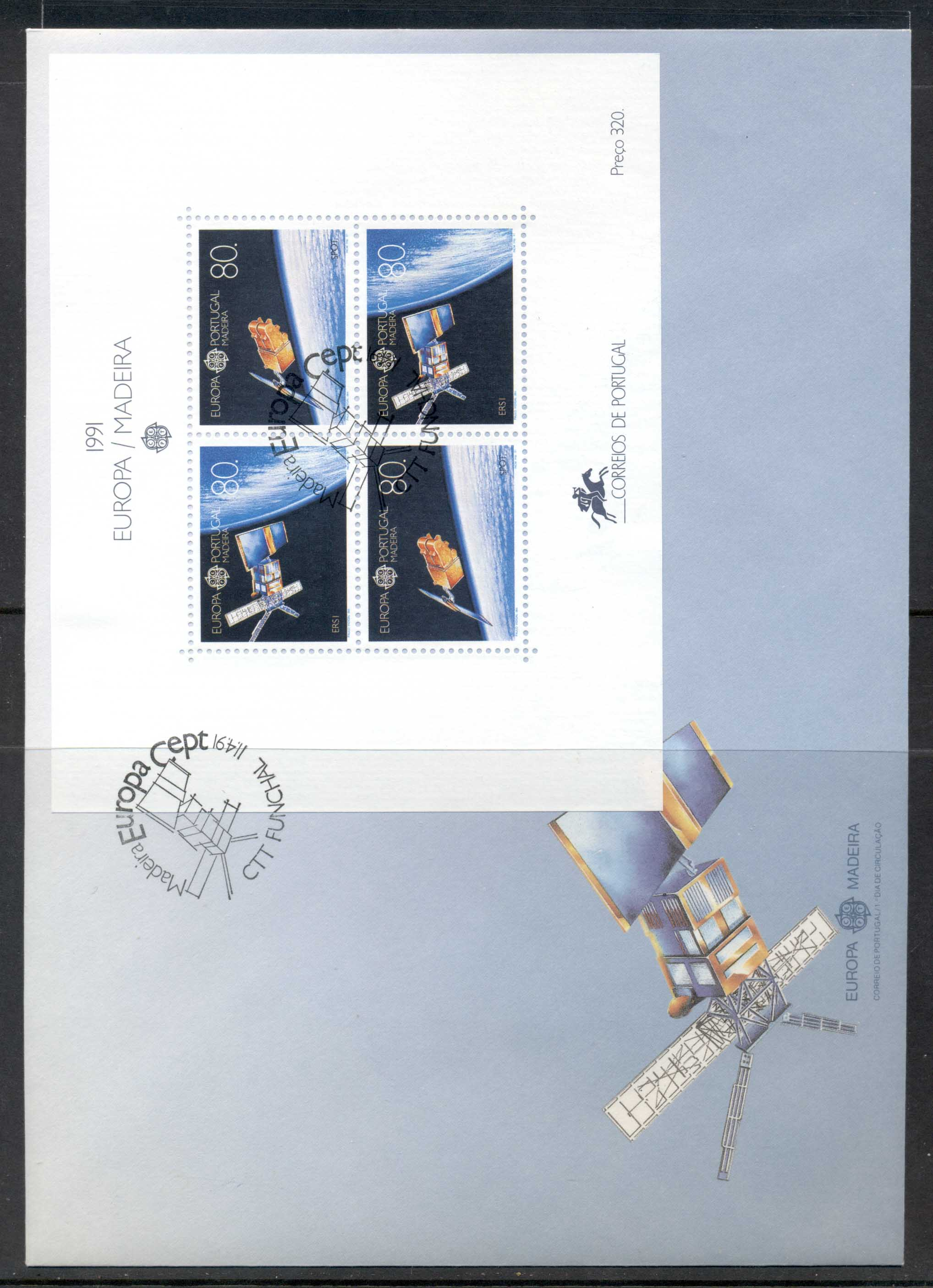 Madeira 1991 Europa Man in Space XLMS FDC