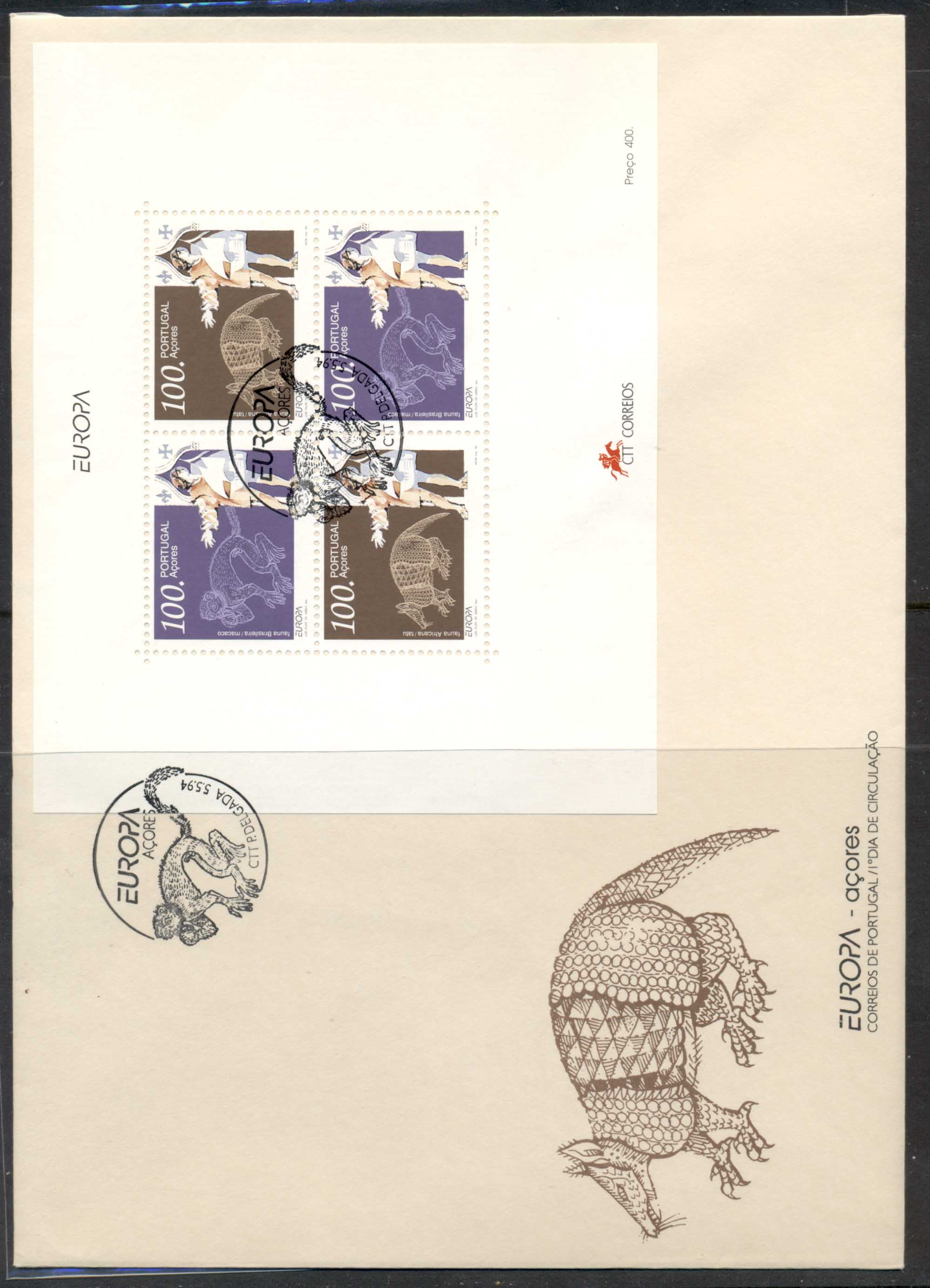 Azores 1994 Europa Scientific Discoveries XLMS FDC