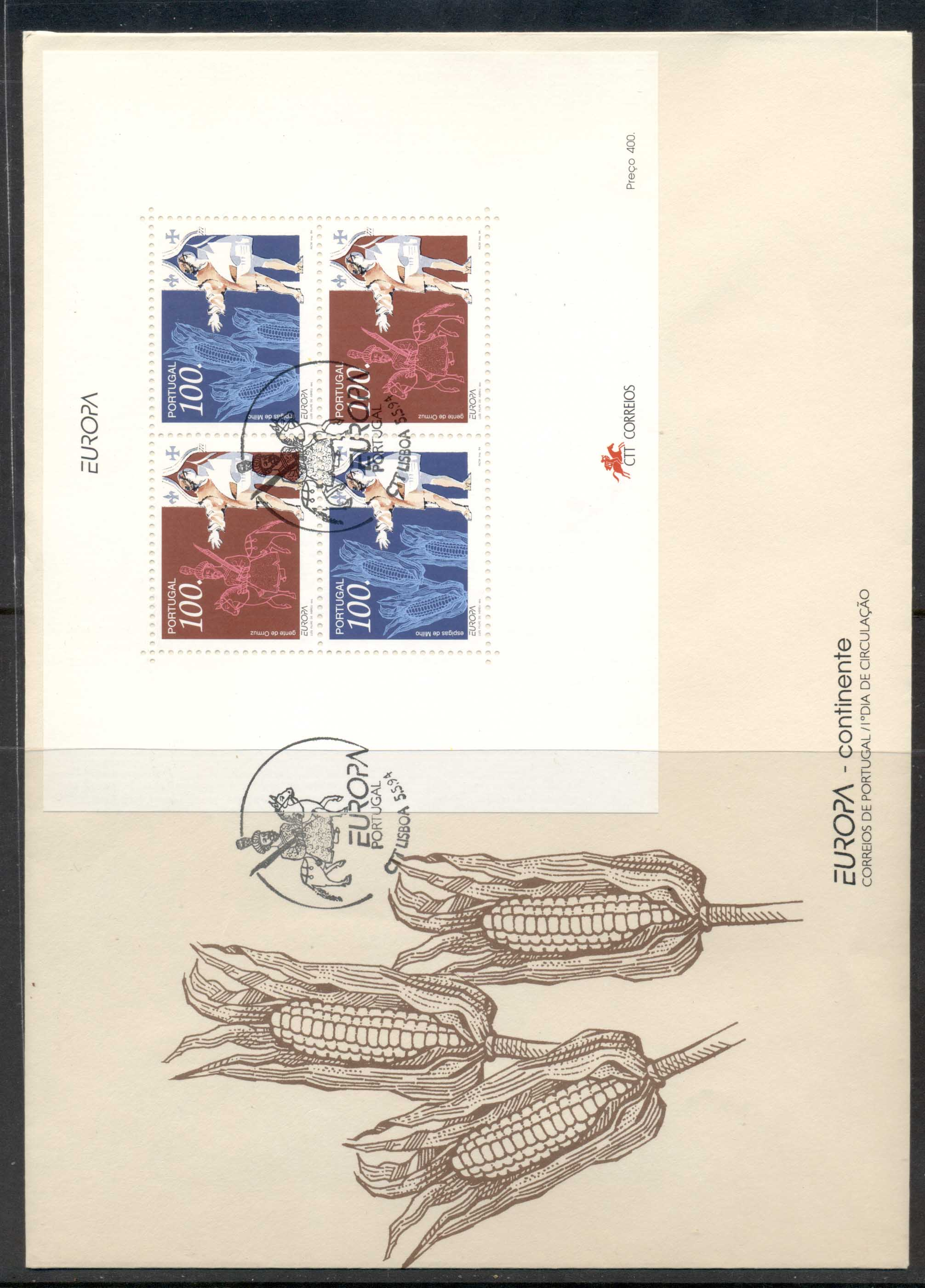 Portugal 1994 Europa Scientific Discoveries XLMS FDC