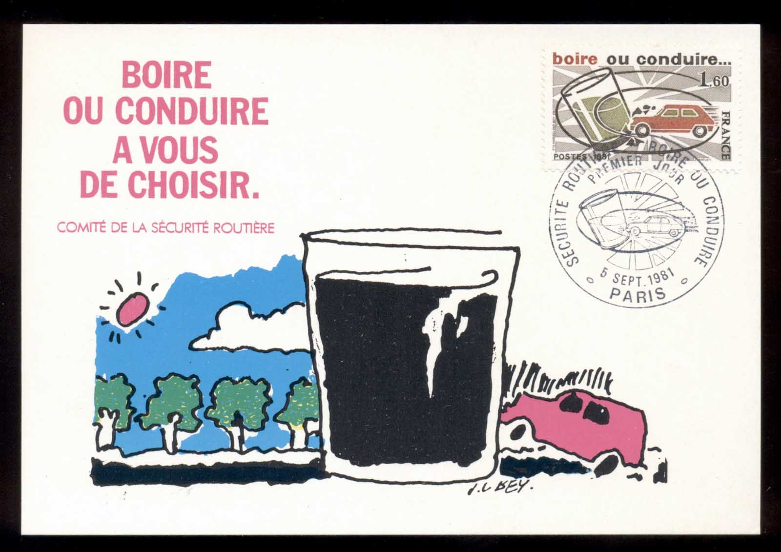 France 1981 Highway Safety, Drink or Drive Maxicard