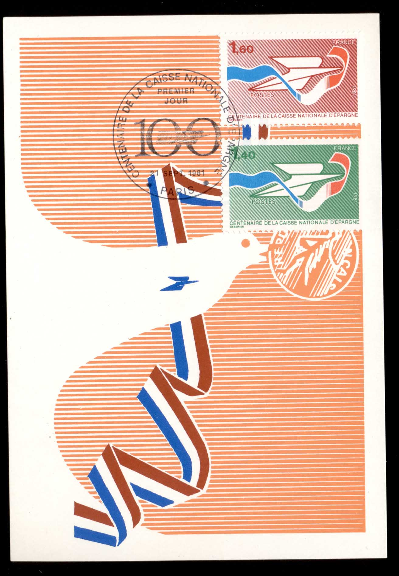 France 1981 National Savings Bank Centenary Maxicard