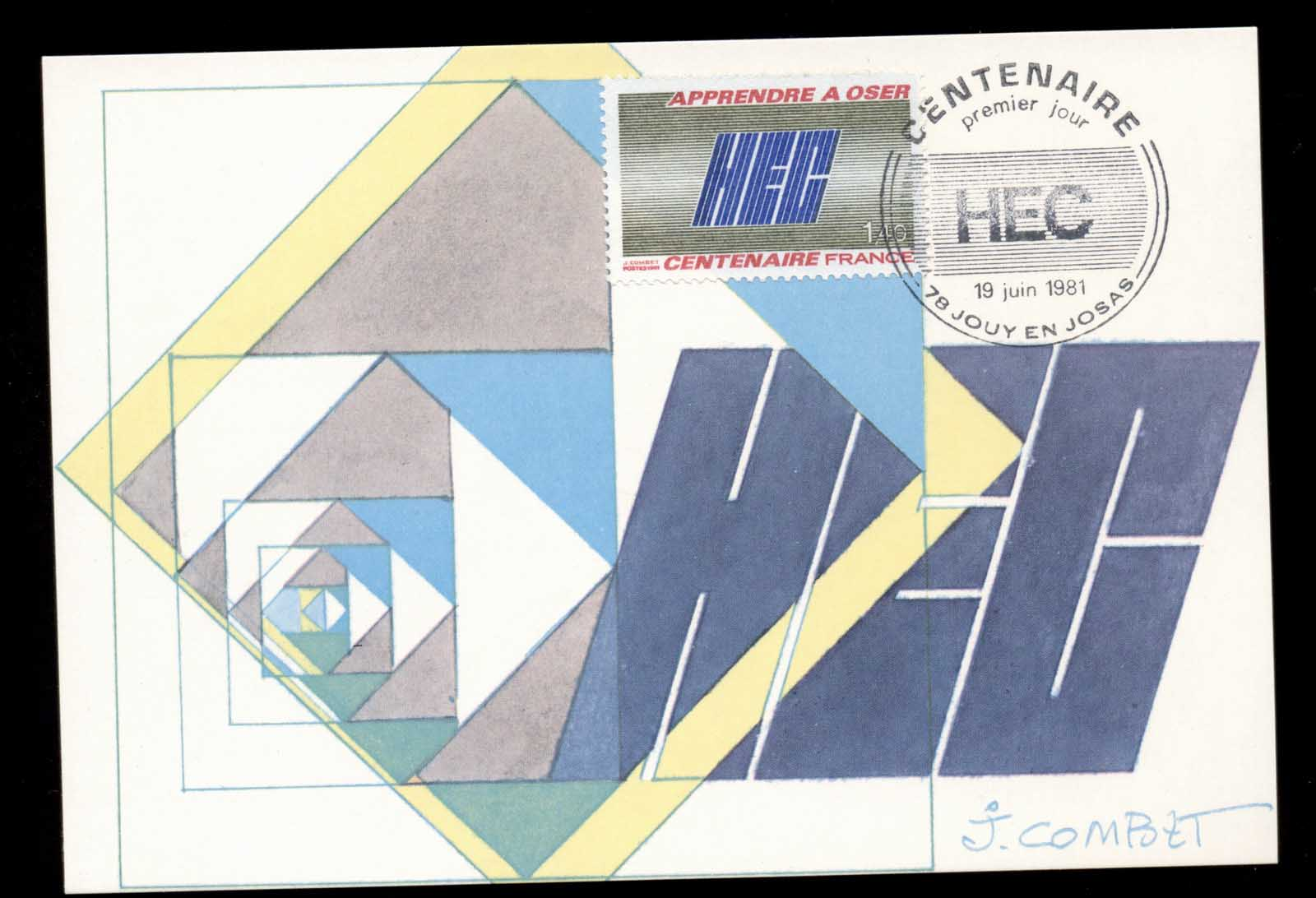 France 1981 Higher National College for Commercial Studies Maxicard
