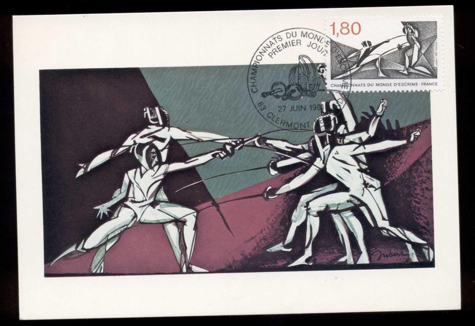 France 1981 World Fencing Championships Maxicard