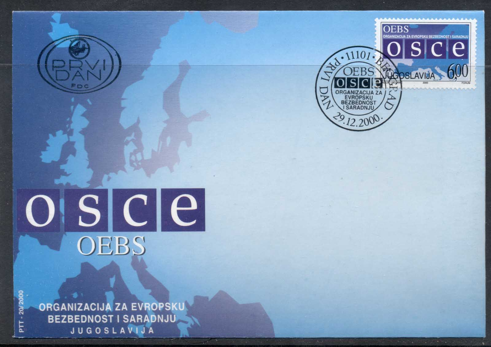 Yugoslavia 2000 OSCE European Security & Cooperation Conference FDC