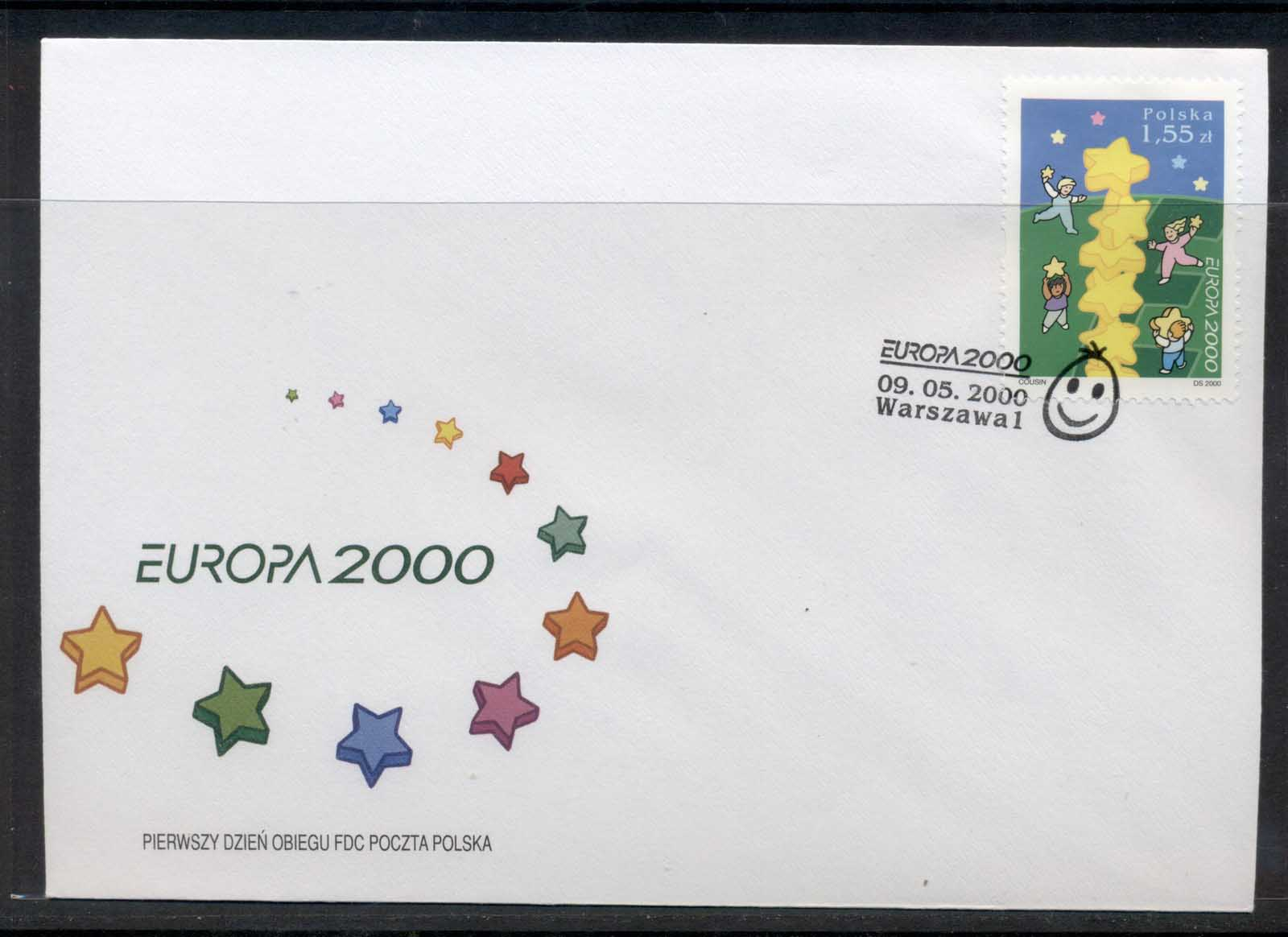 Poland 2000 Europa Field of Stars FDC