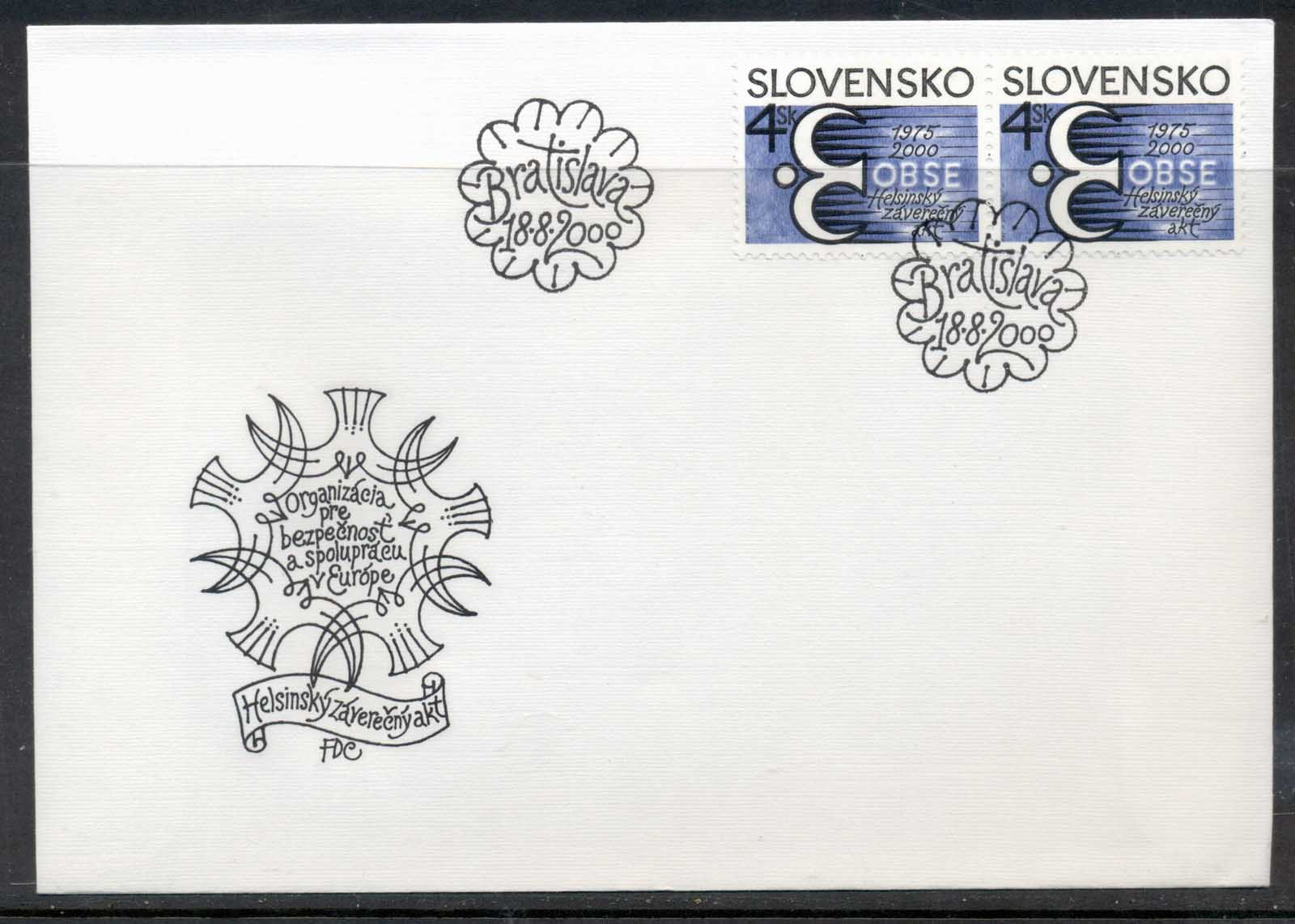 Slovakia 2000 OSCE European Security & Cooperation Conference FDC