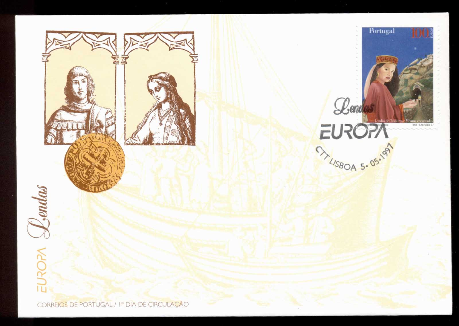 Portugal 1997 Europa Myths & legends FDC