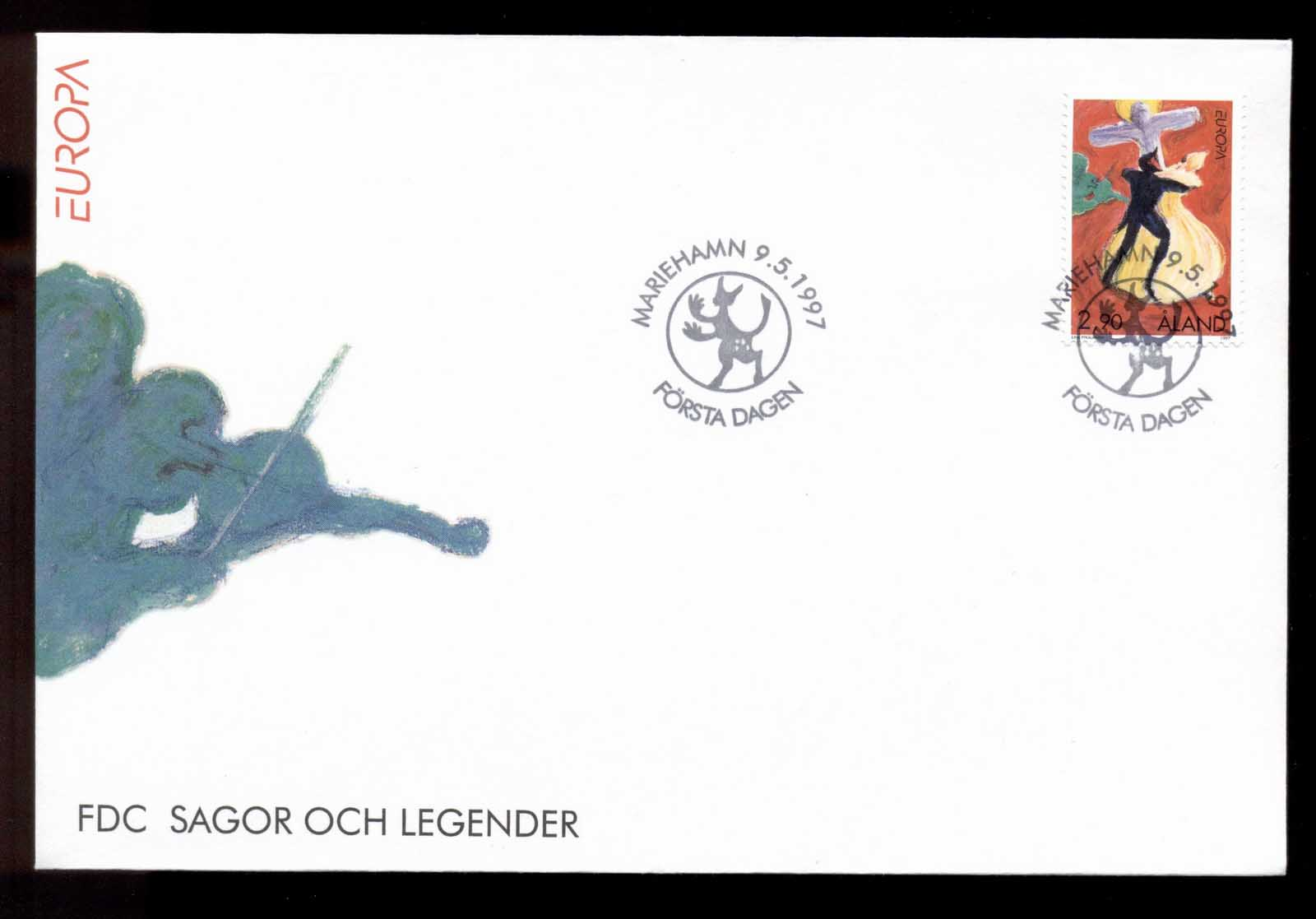 Aland 1997 Europa Myths & legends FDC
