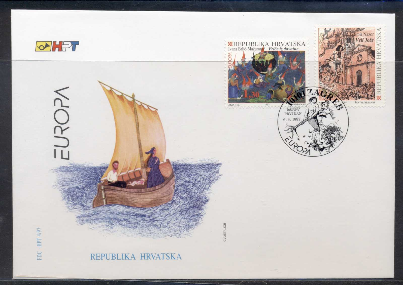 Croatia 1997 Europa Myths & legends FDC
