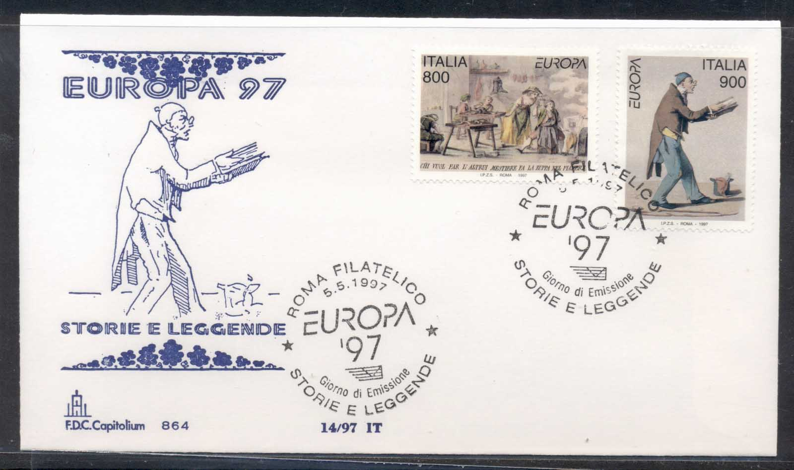 Italy 1997 Europa Myths & legends FDC