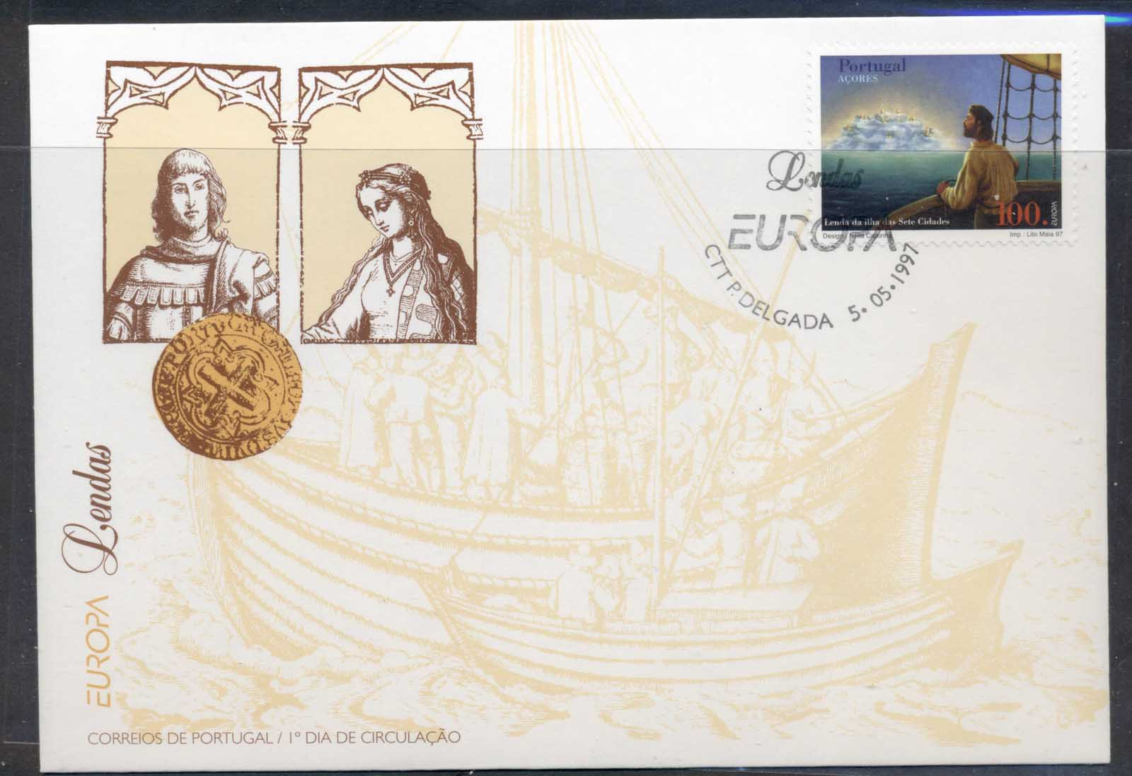 Azores 1997 Europa Myths & legends FDC