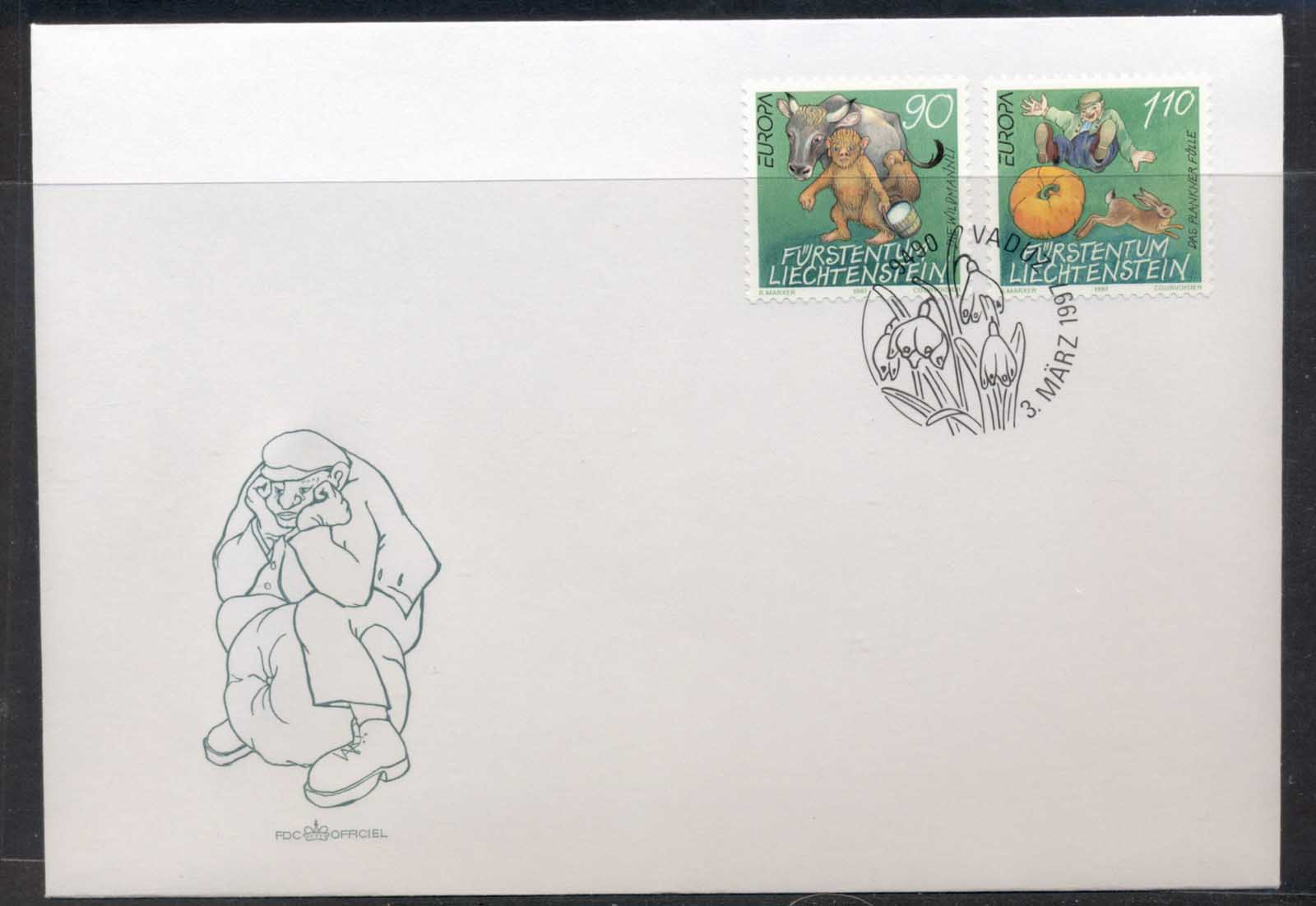 Liechtenstein 1997 Europa Myths & legends FDC